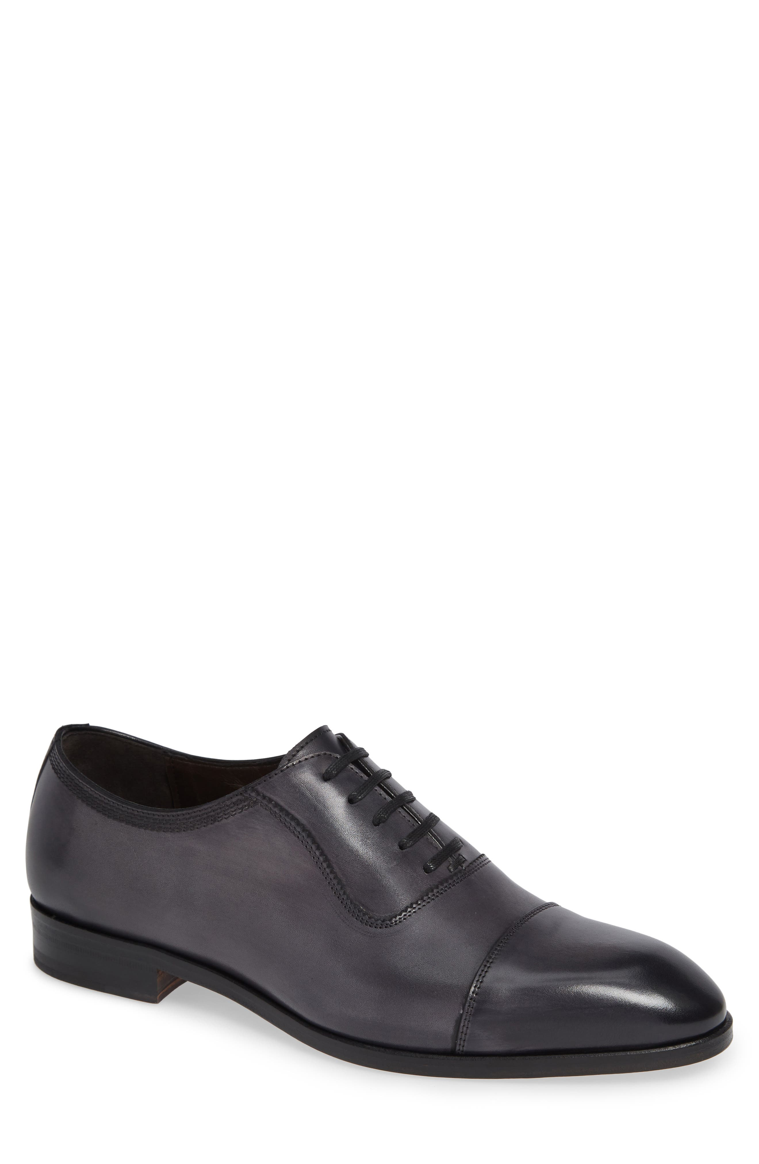 Lucerne Cap Toe Oxford,                             Main thumbnail 1, color,                             GREY LEATHER
