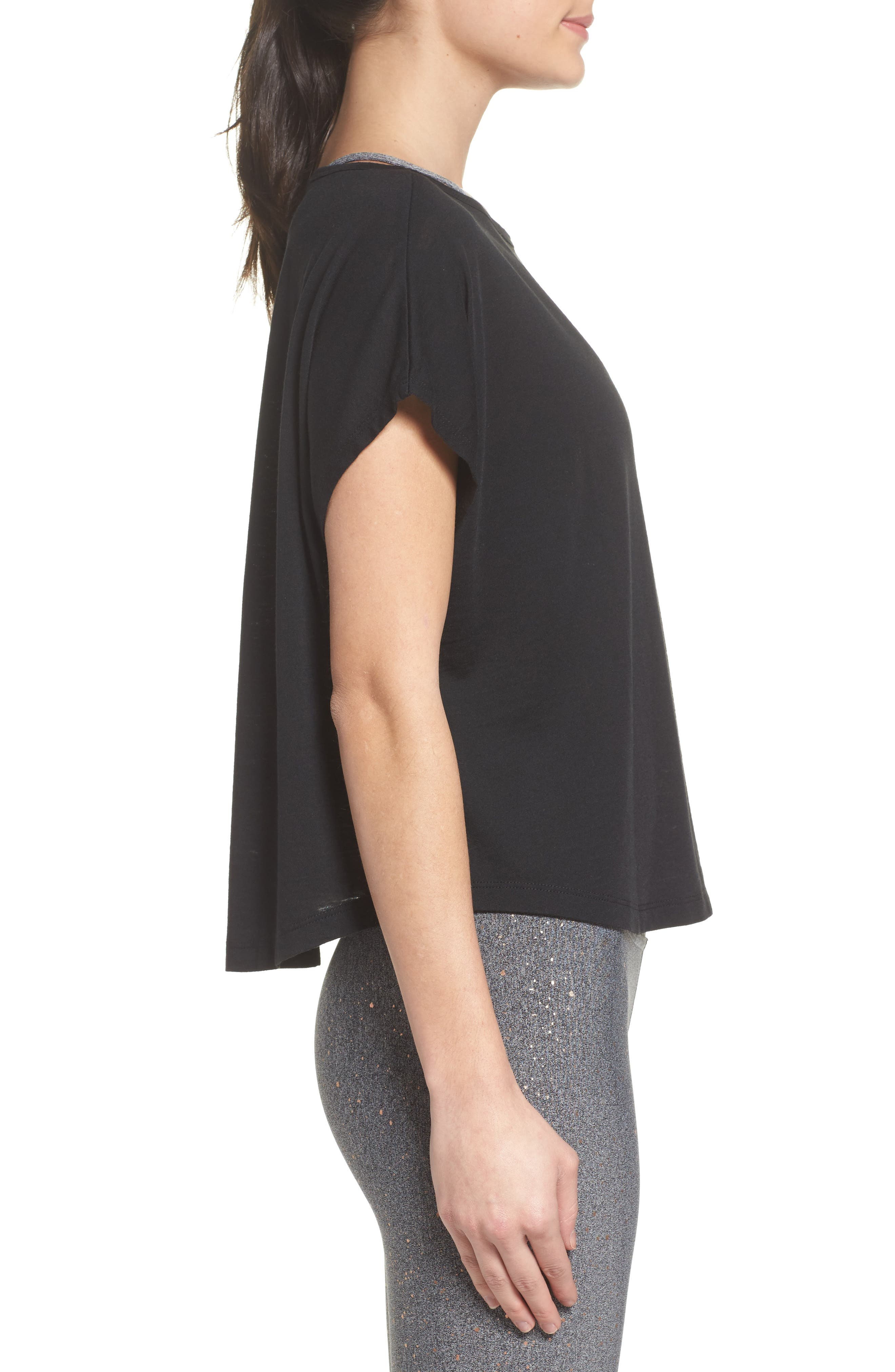 Perfect Layer Tee,                             Alternate thumbnail 3, color,                             001