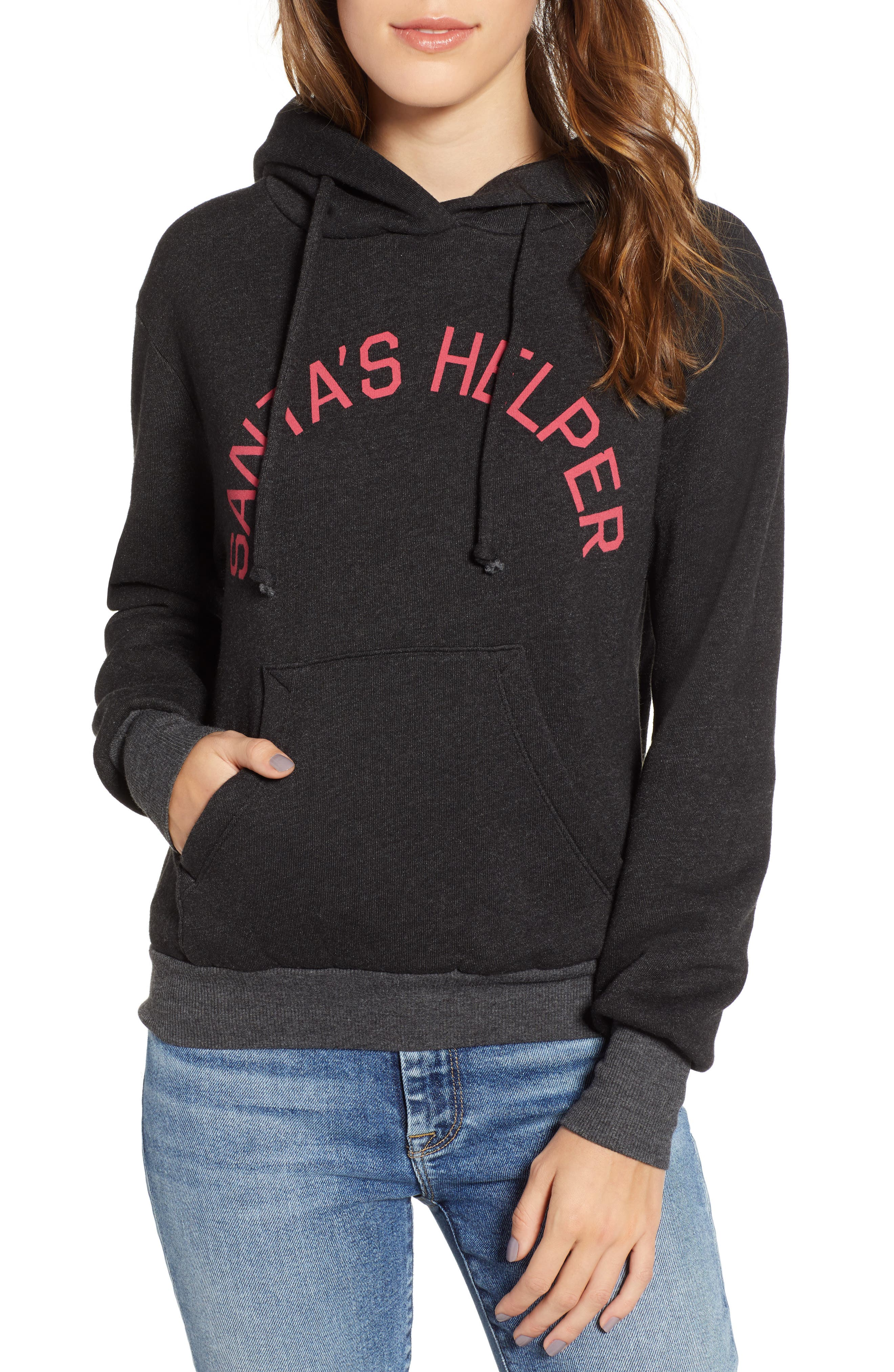 Lil Helper Hoodie,                         Main,                         color, CLEAN BLACK