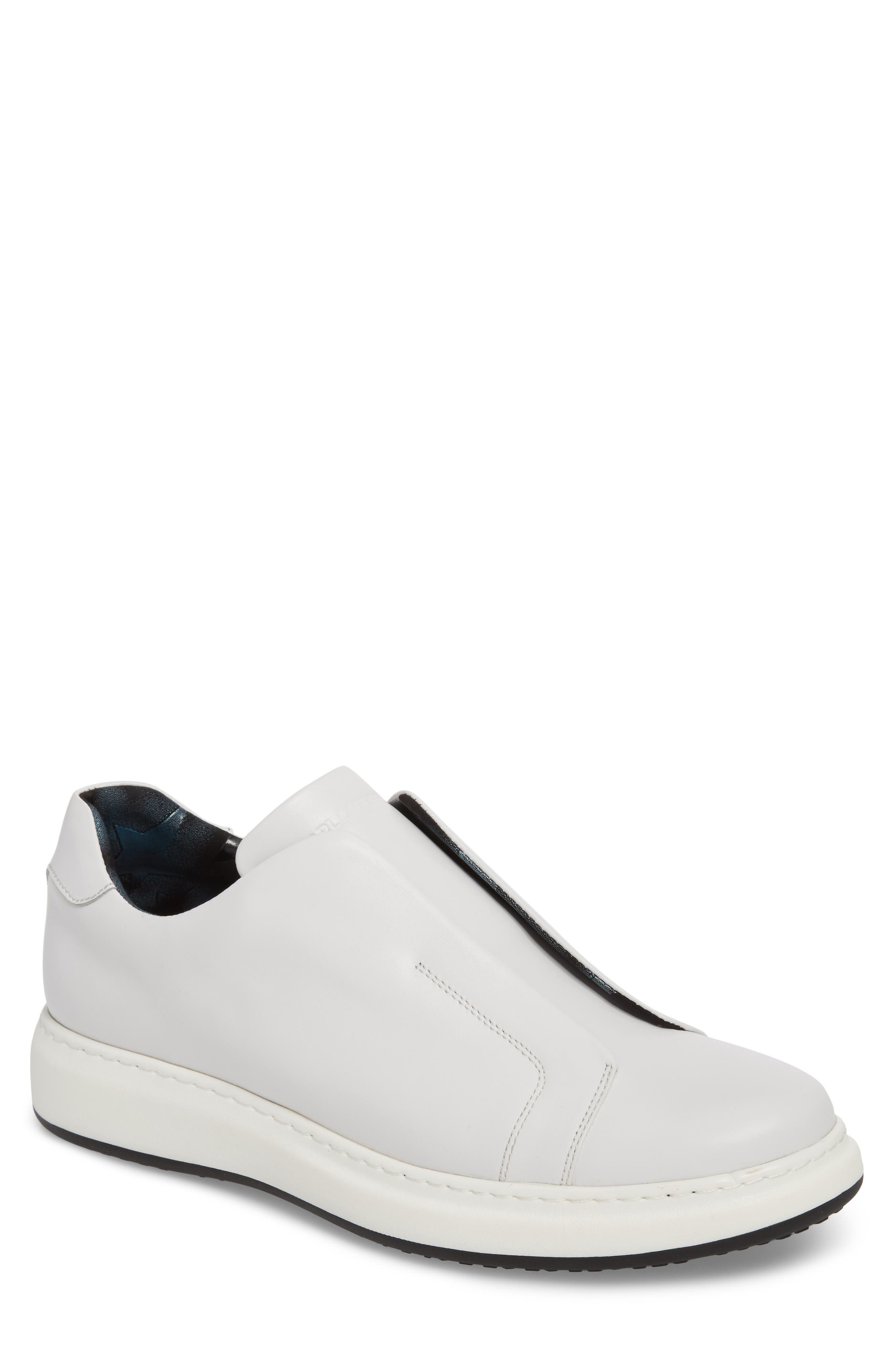 Laceless Sneaker,                         Main,                         color, WHITE