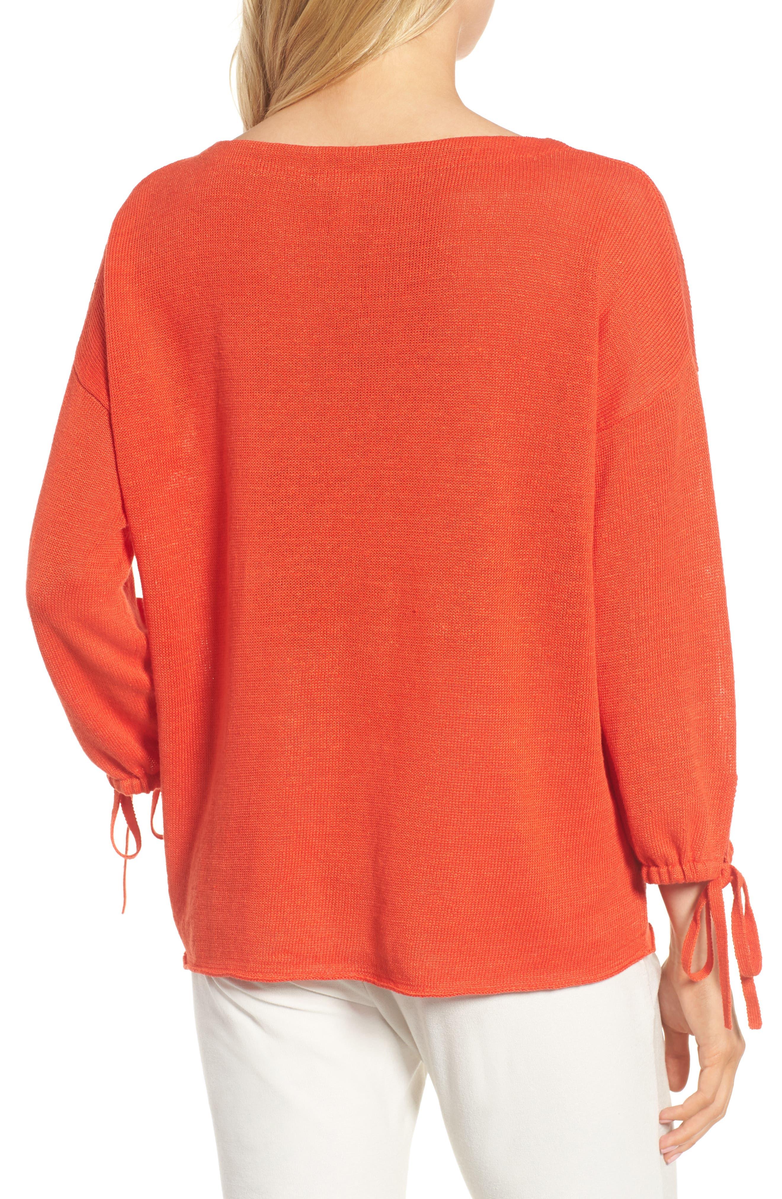 Organic Linen Sweater,                             Alternate thumbnail 8, color,