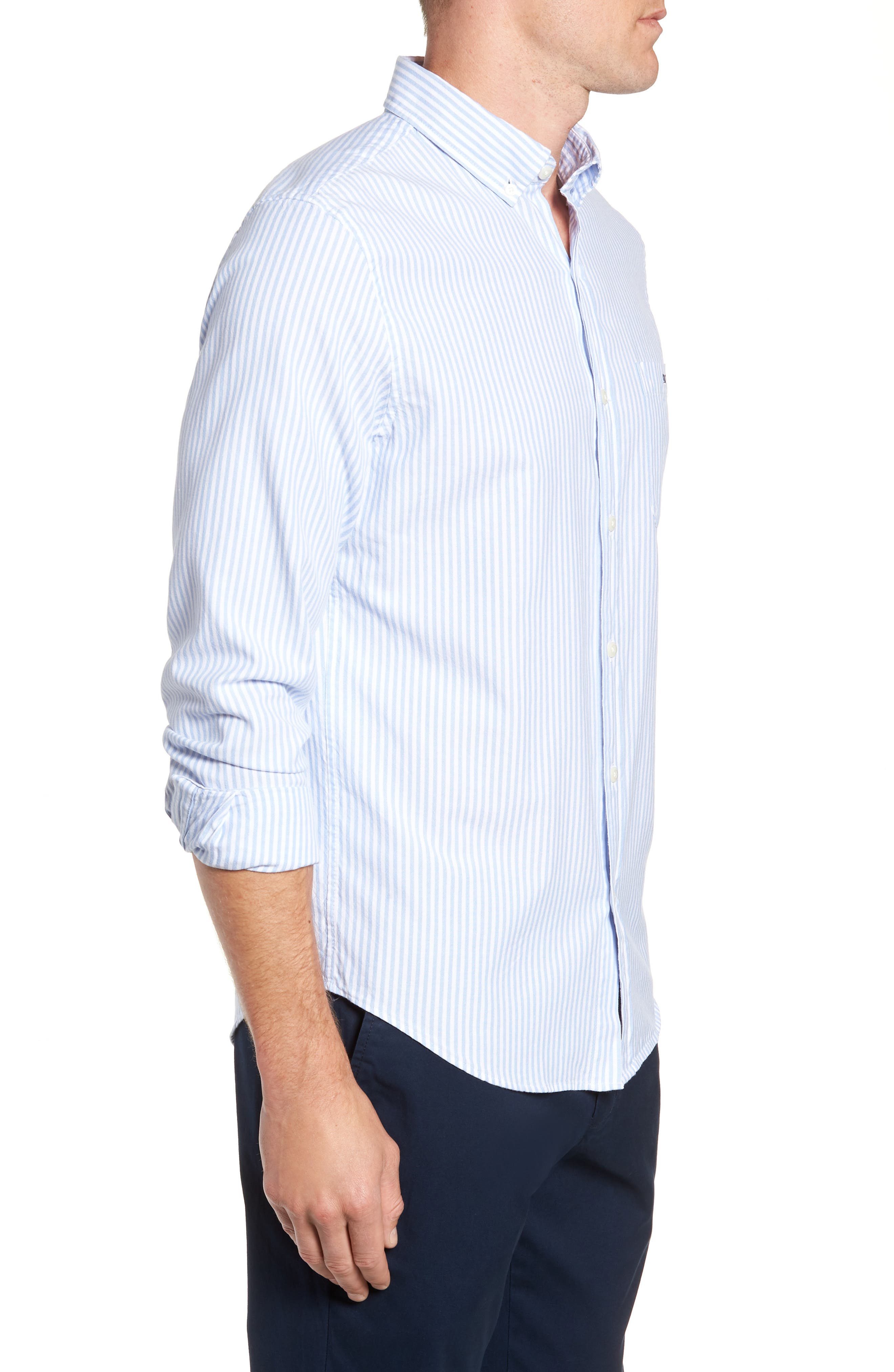 Tiloo Cay Slim Stretch Tucker Sport Shirt,                             Alternate thumbnail 4, color,                             484
