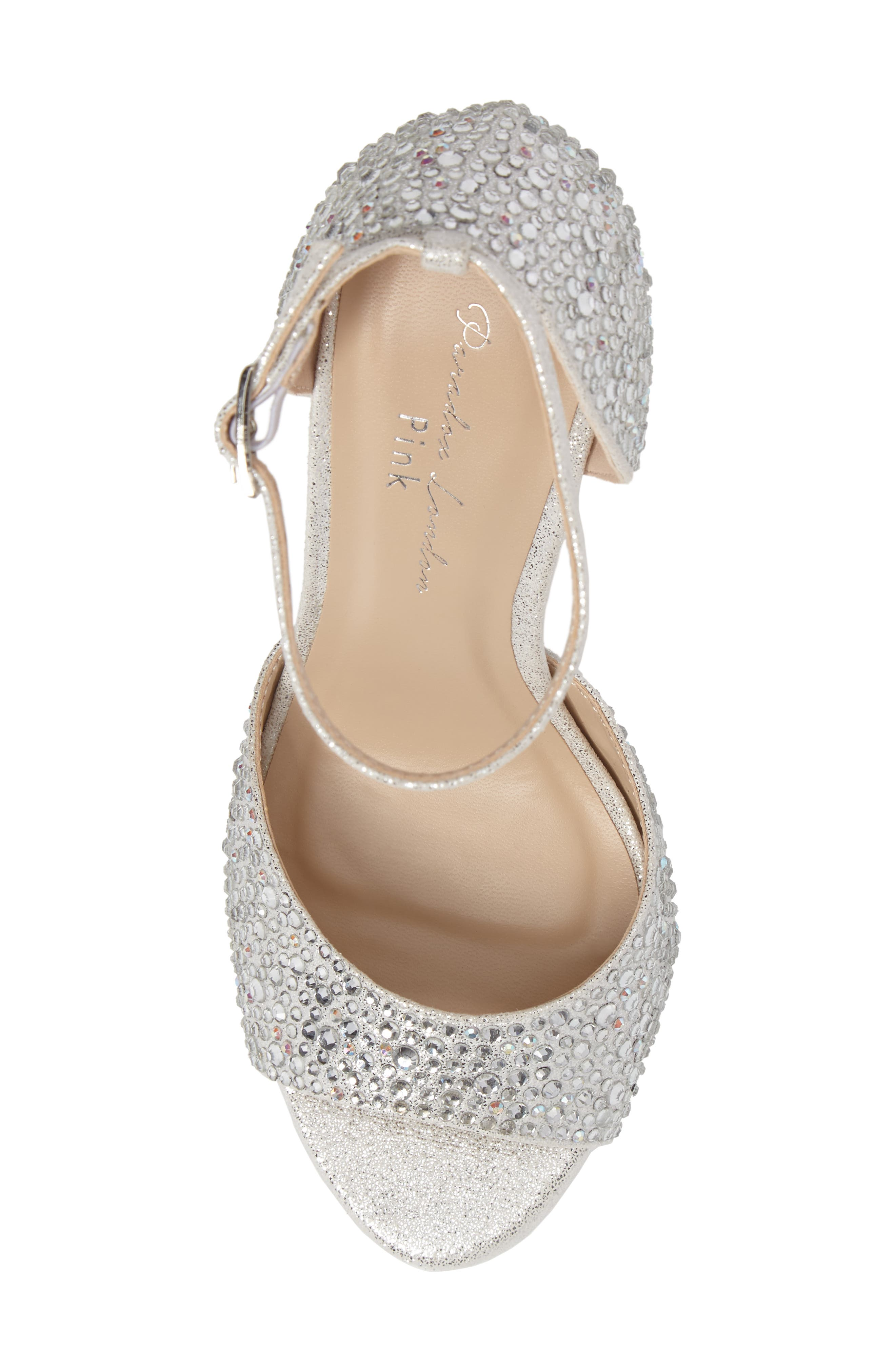 Mira Embellished Glitter Sandal,                             Alternate thumbnail 5, color,