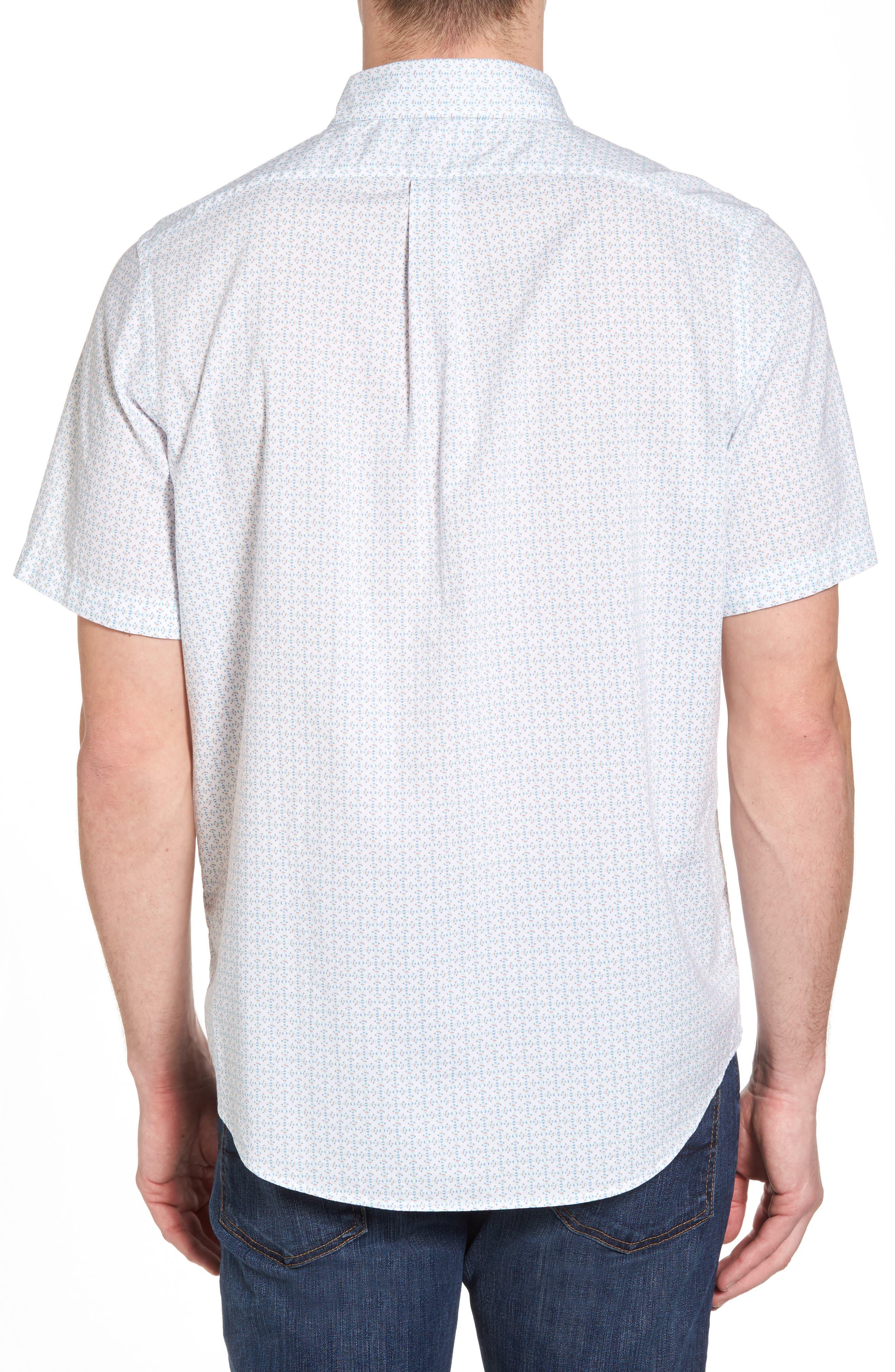 Fish Check Tucker Slim Fit Sport Shirt,                             Alternate thumbnail 2, color,                             100