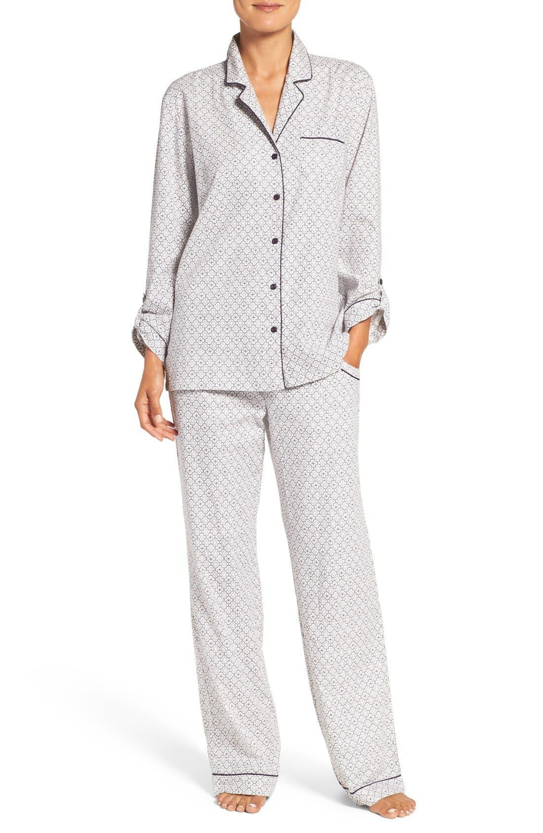 Cotton Twill Pajamas,                             Main thumbnail 8, color,
