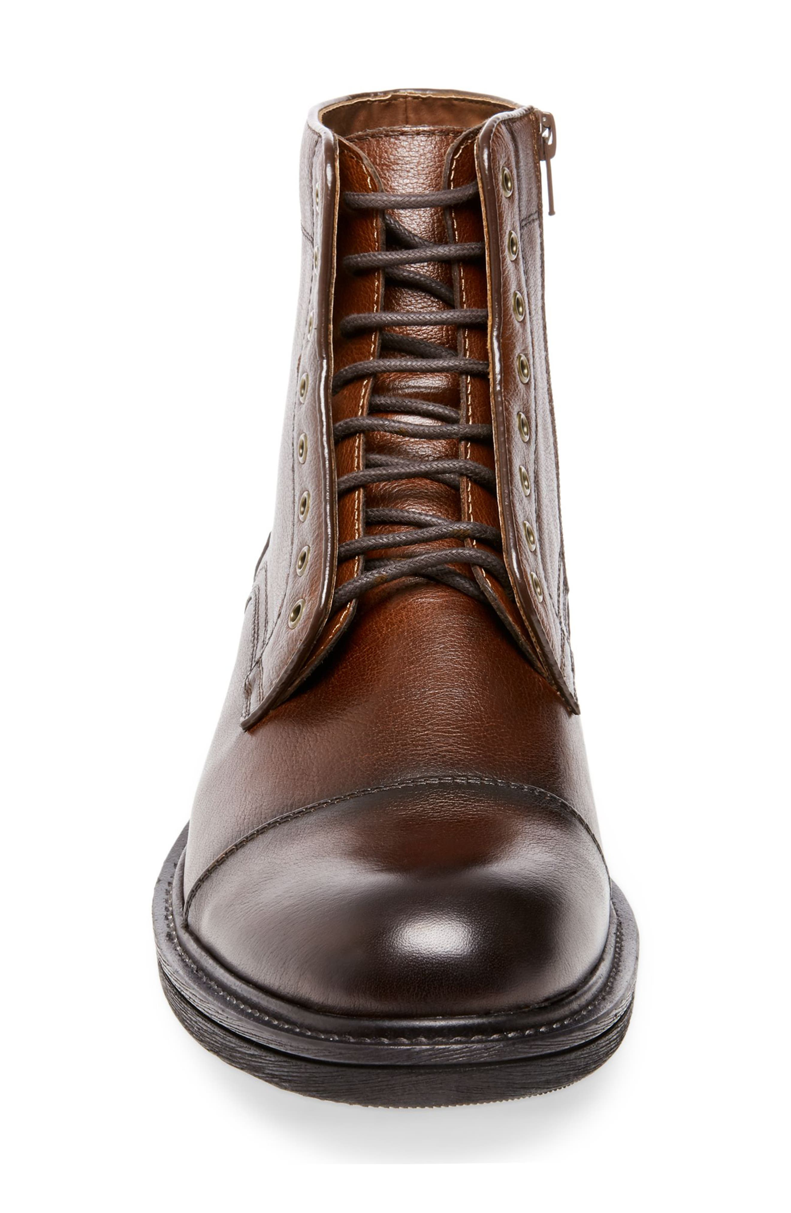 Chariot Boot,                             Alternate thumbnail 3, color,                             COGNAC LEATHER