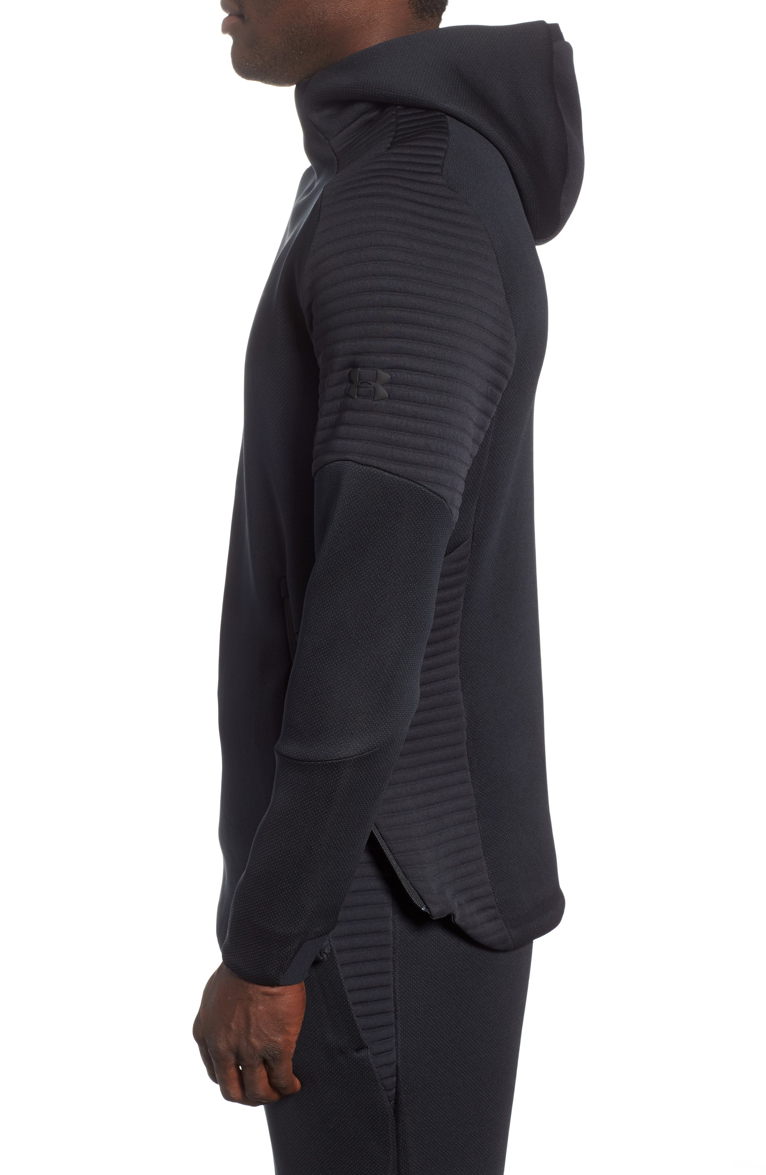 Unstoppable /MOVE Hoodie,                             Alternate thumbnail 3, color,                             BLACK/ CHARCOAL/ BLACK