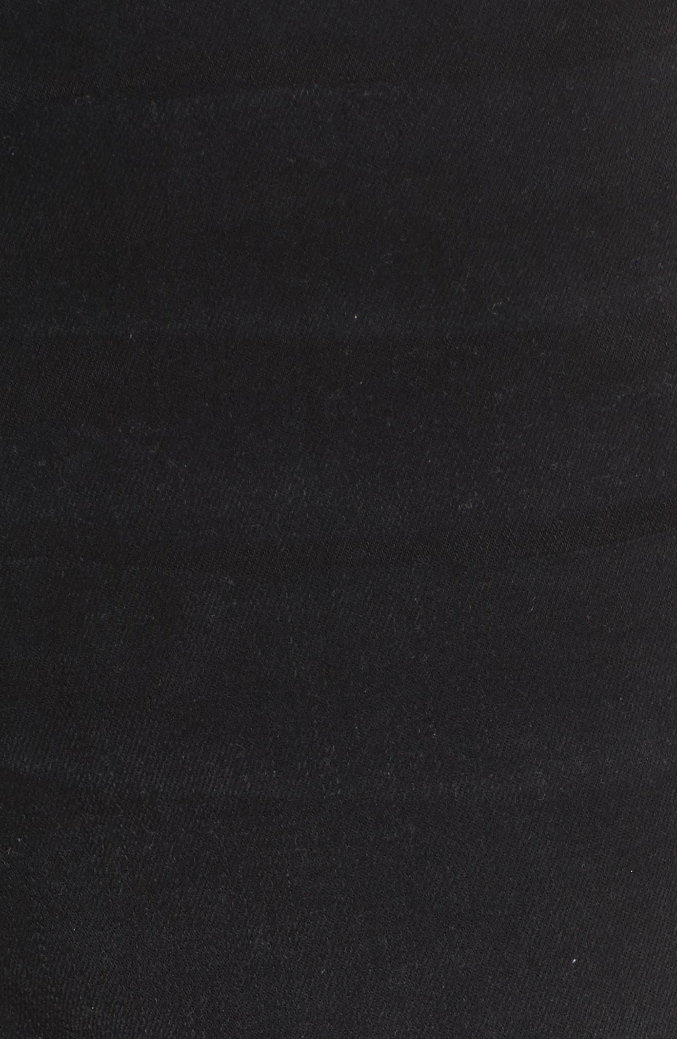 High Waist Skinny Jeans,                             Alternate thumbnail 5, color,                             NOIR