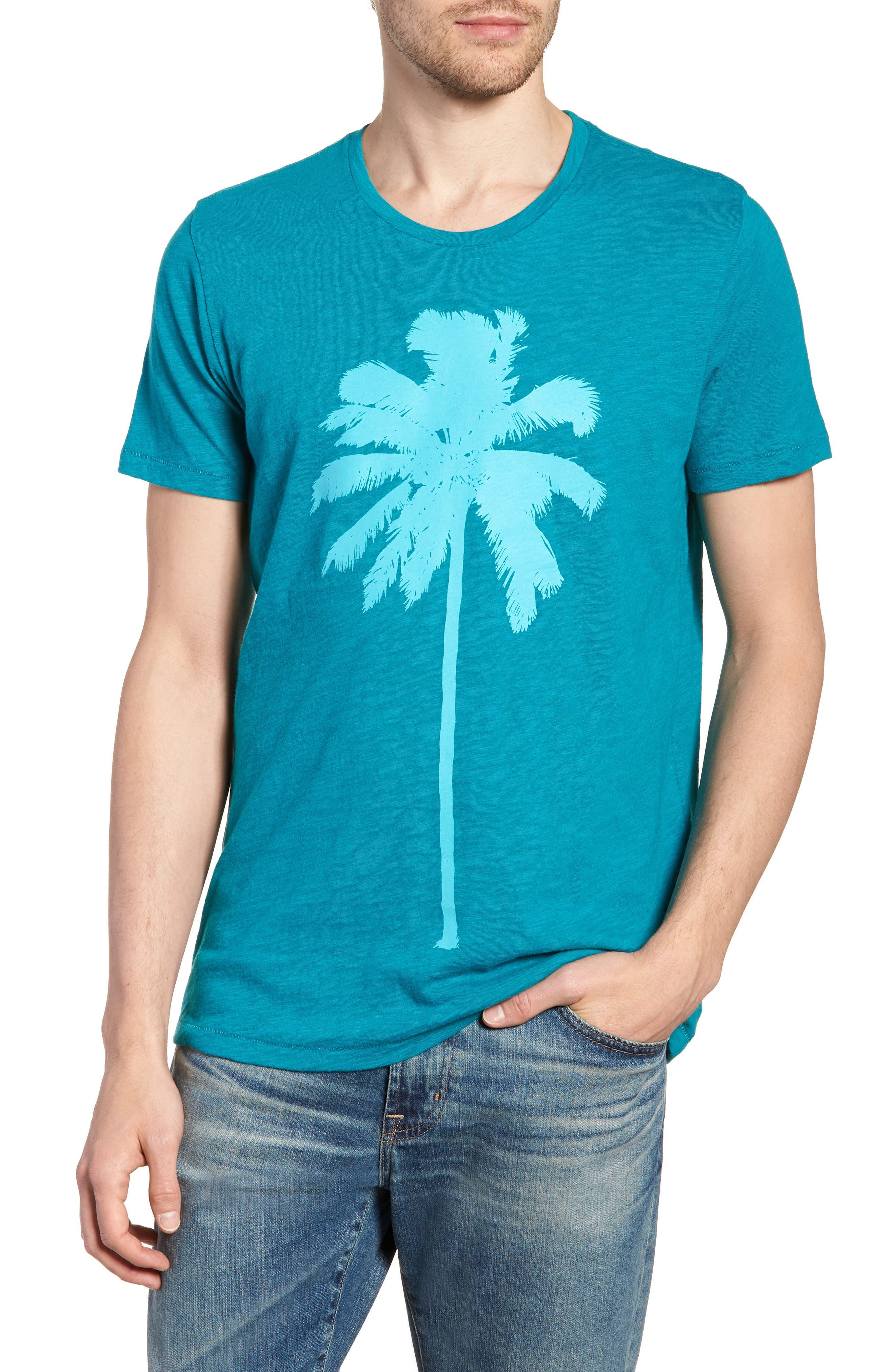 Palm Print T-Shirt,                         Main,                         color, 300