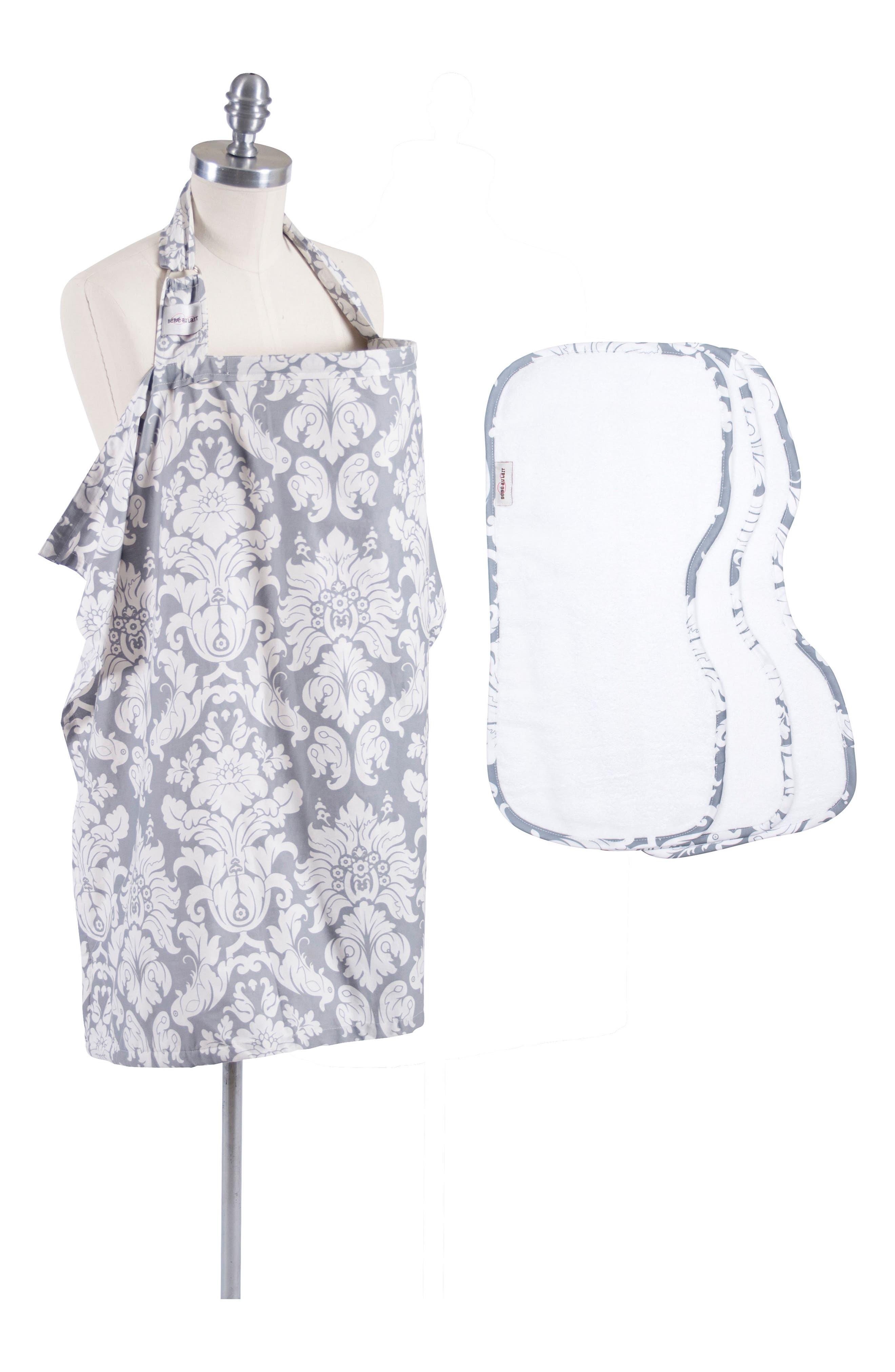Nursing Cover & Burp Cloth Set,                             Main thumbnail 2, color,