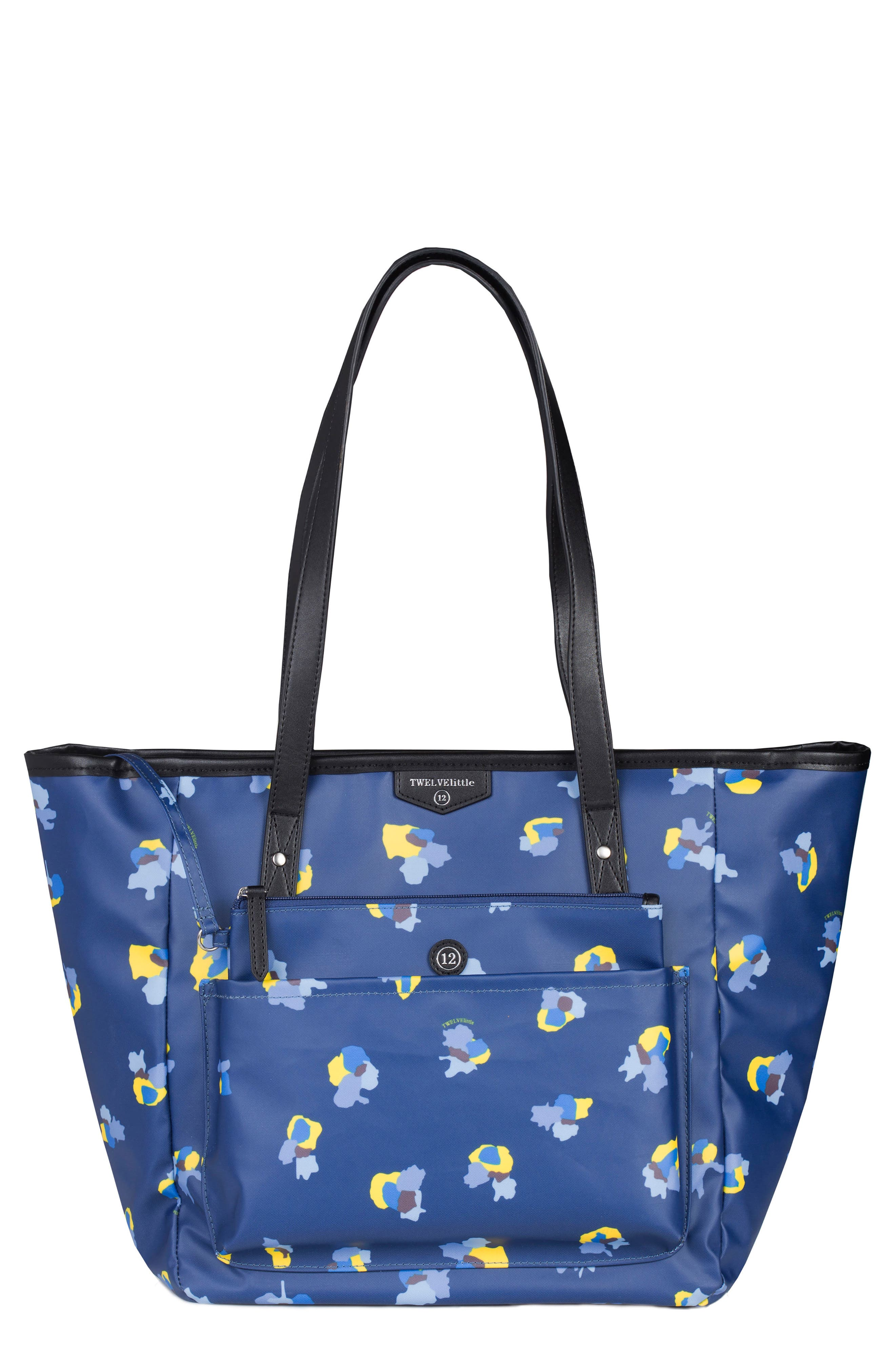 Everyday Diaper Tote Plus,                         Main,                         color, NAVY FLORAL PRINT