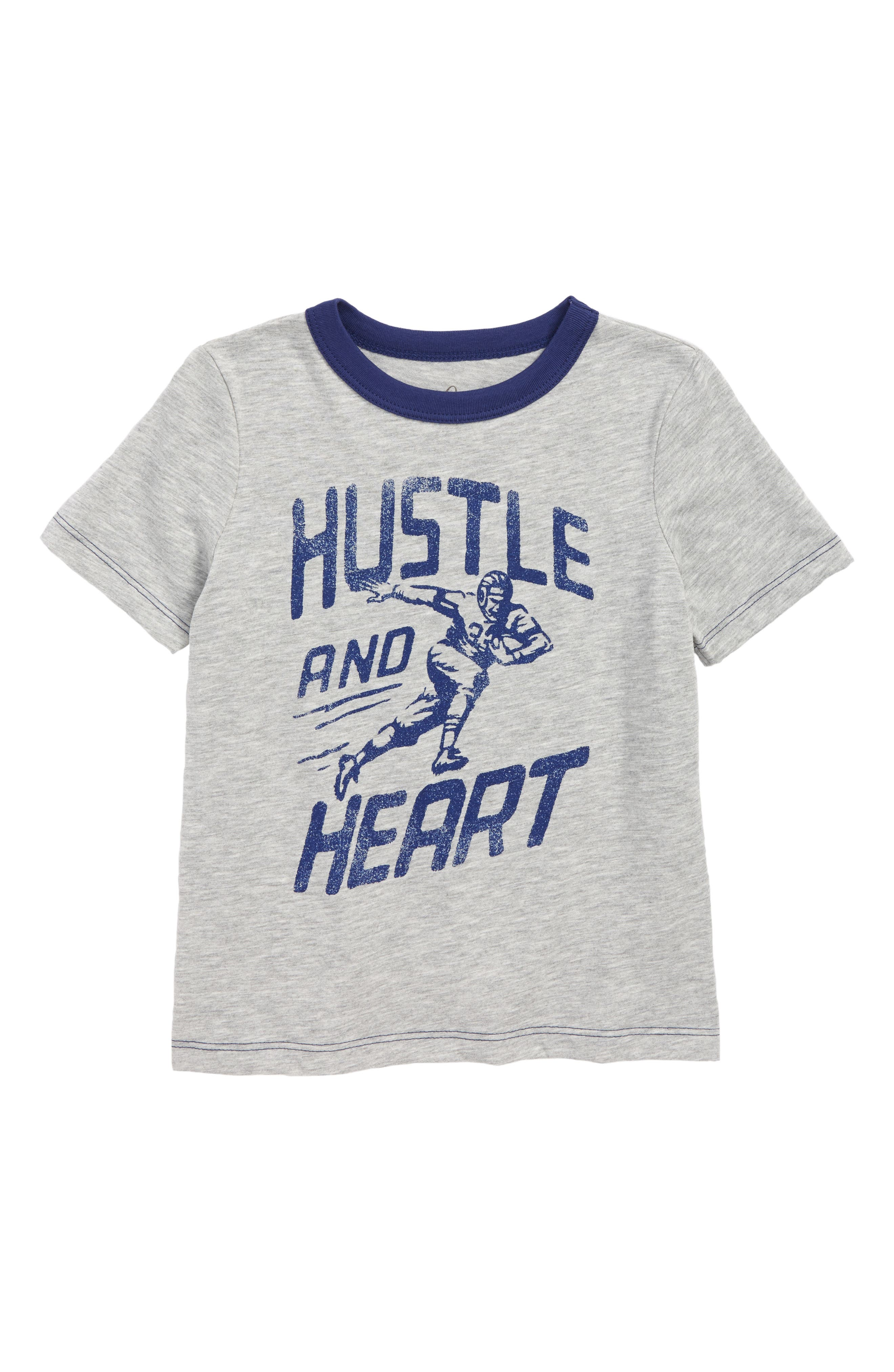 Hustle & Heart Graphic T-Shirt,                             Main thumbnail 1, color,                             LIGHT HEATHER GREY
