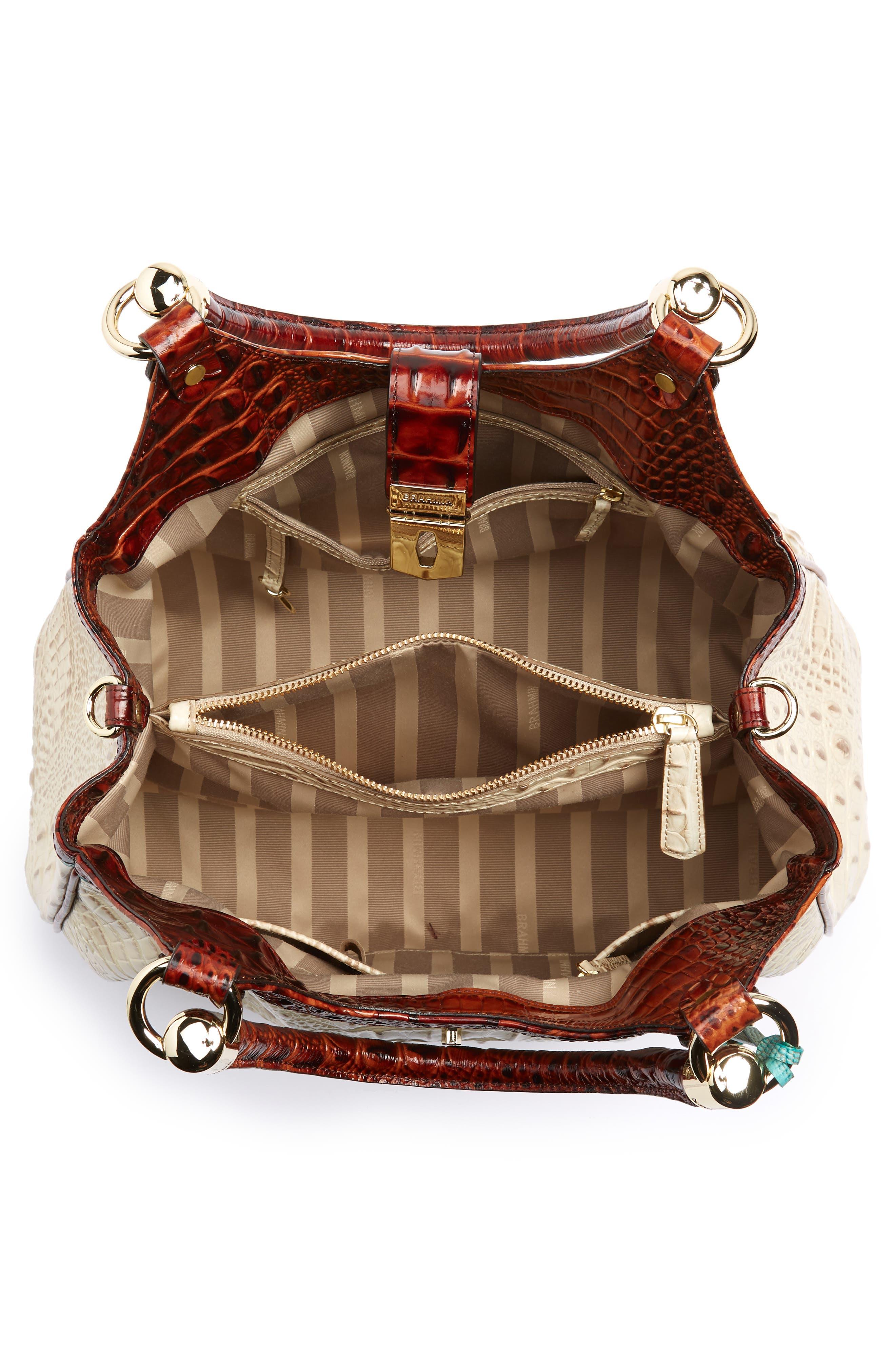 Elisa Leather Shoulder Bag,                             Alternate thumbnail 4, color,                             VANILLA