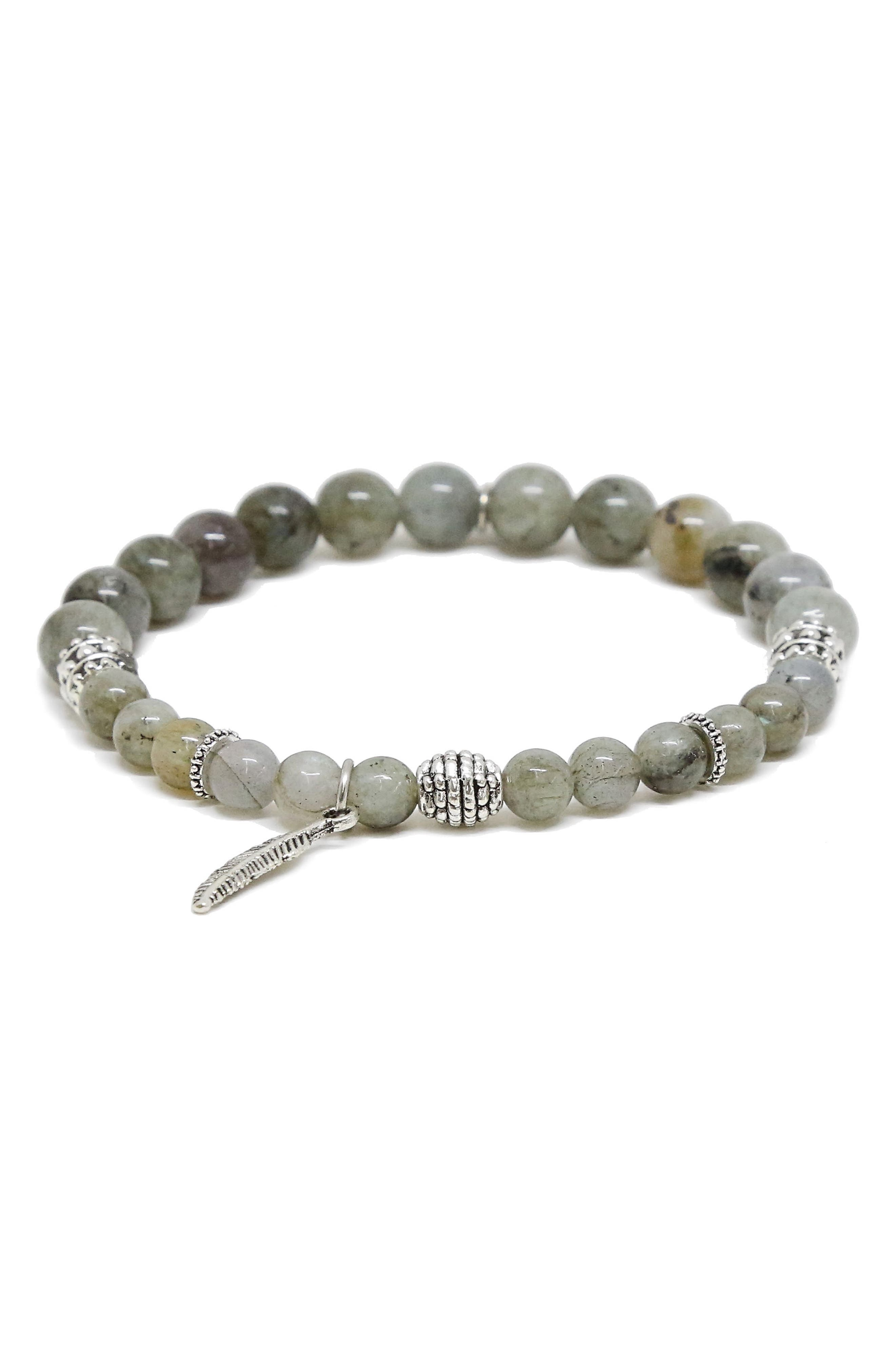 Labradorite Bead Bracelet,                         Main,                         color, 020