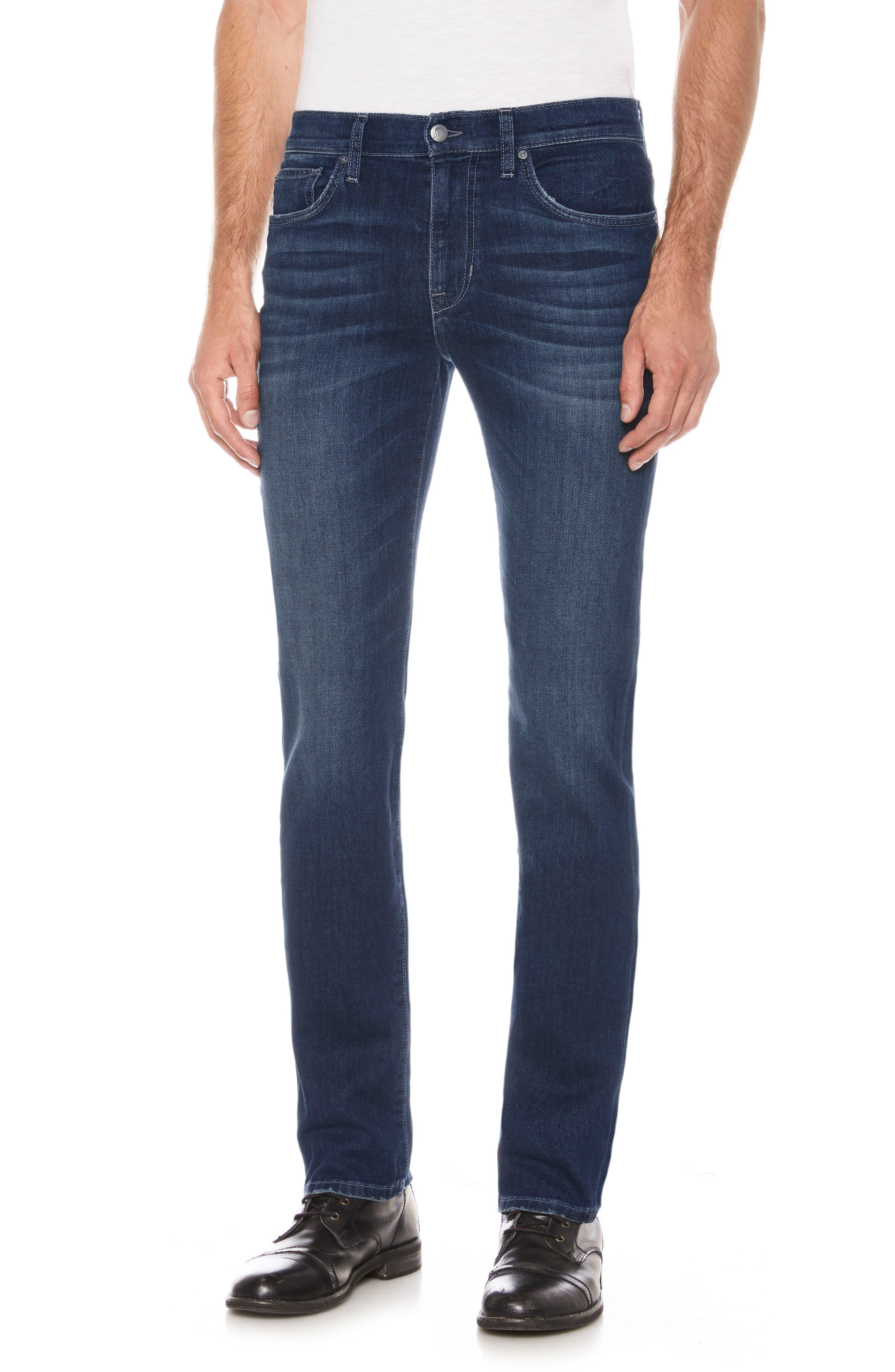 Brixton Slim Straight Leg Jeans,                             Main thumbnail 1, color,                             SANDERS