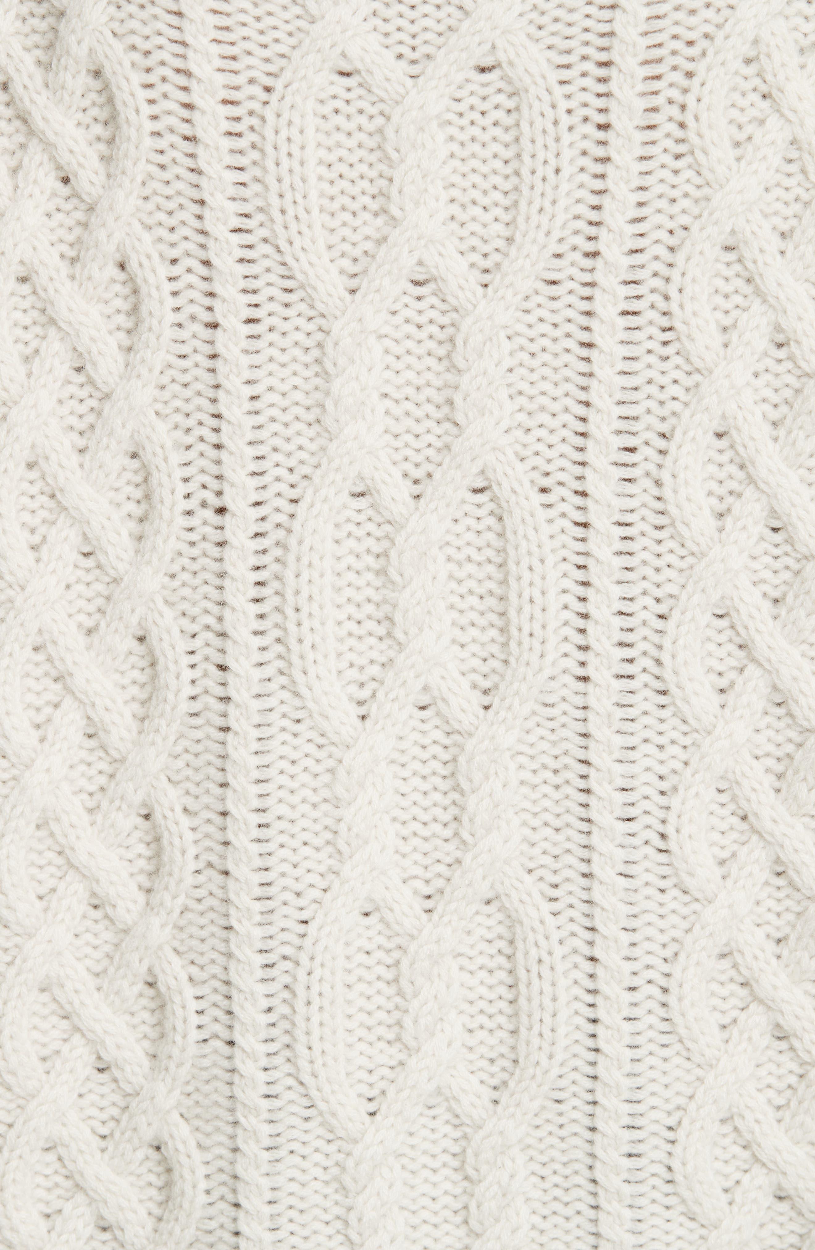 Cecil Cable Knit Cashmere Turtleneck Sweater,                             Alternate thumbnail 5, color,                             902