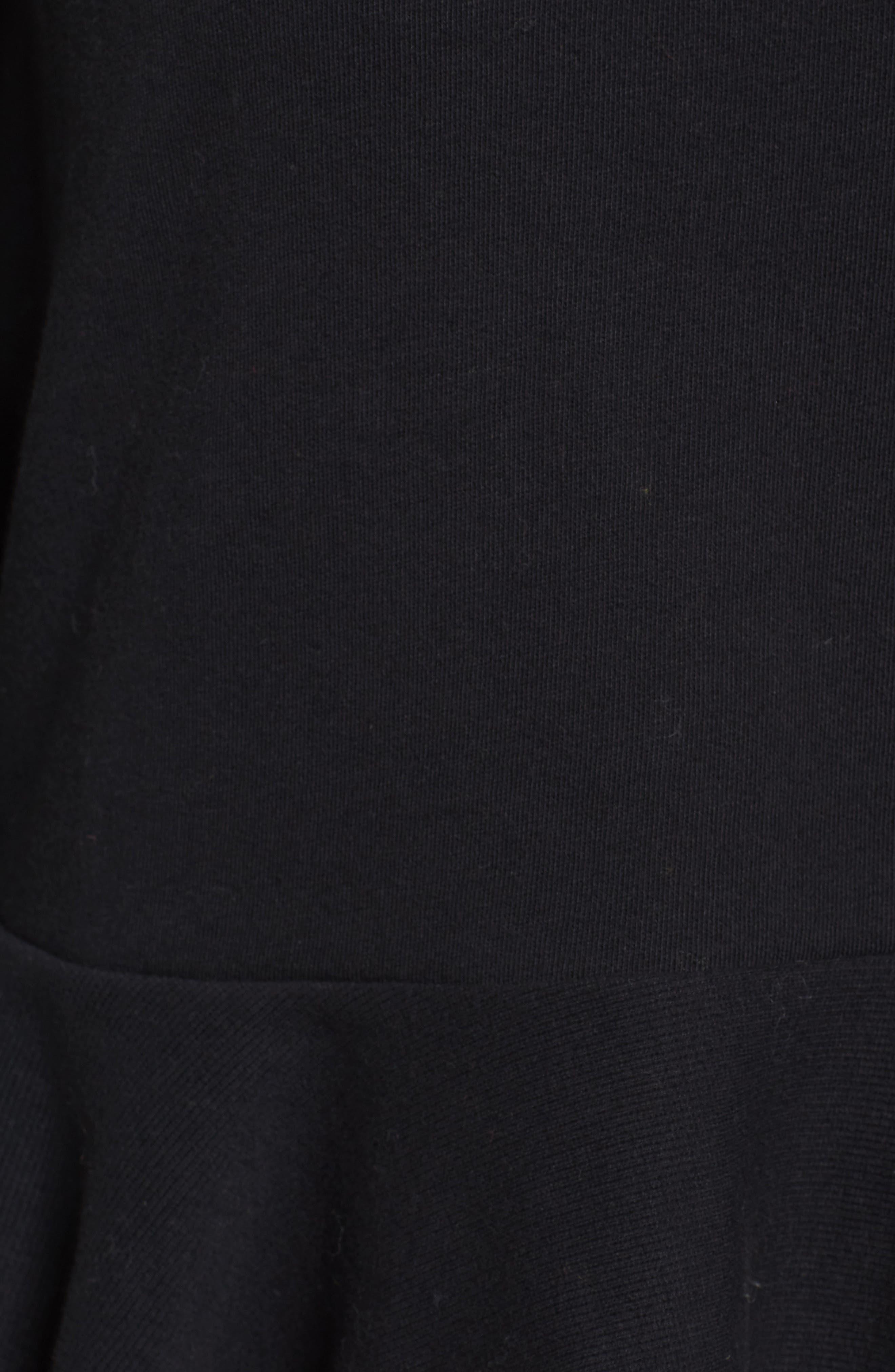 Ruffle Hem Bell Sleeve Top,                             Alternate thumbnail 5, color,                             001