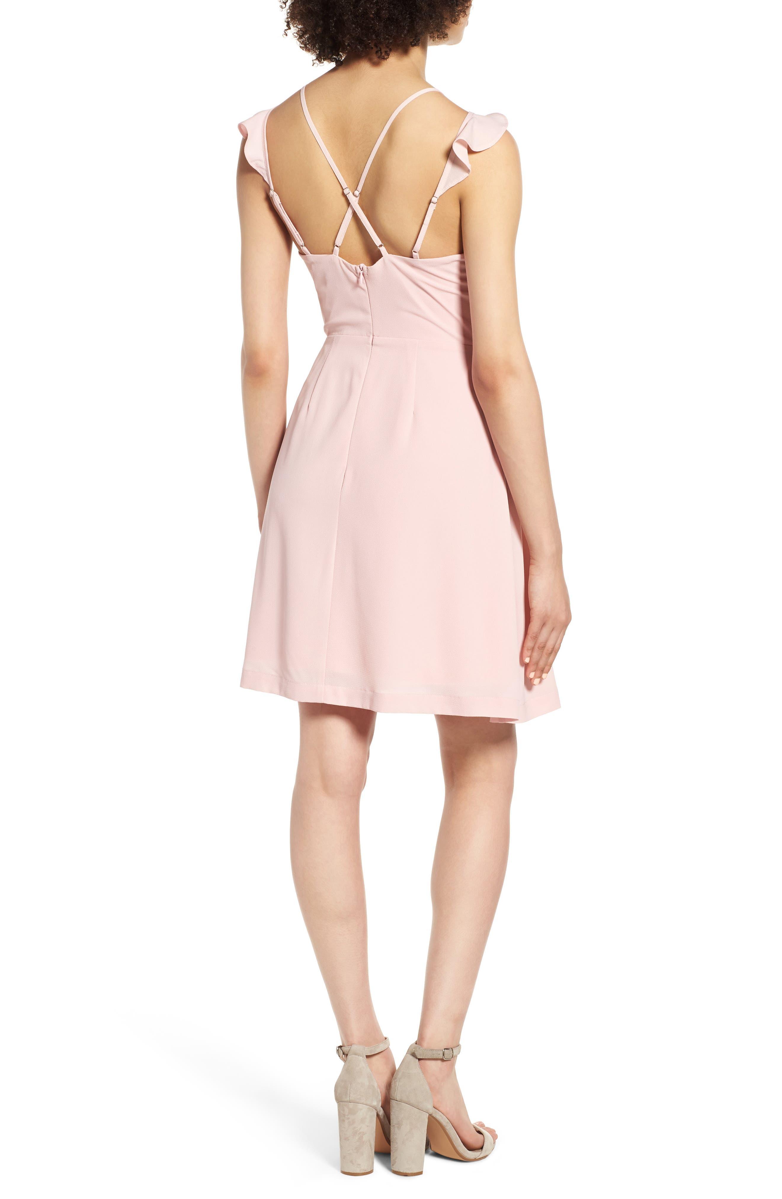 Strappy Surplice Mini Dress,                             Alternate thumbnail 2, color,                             650