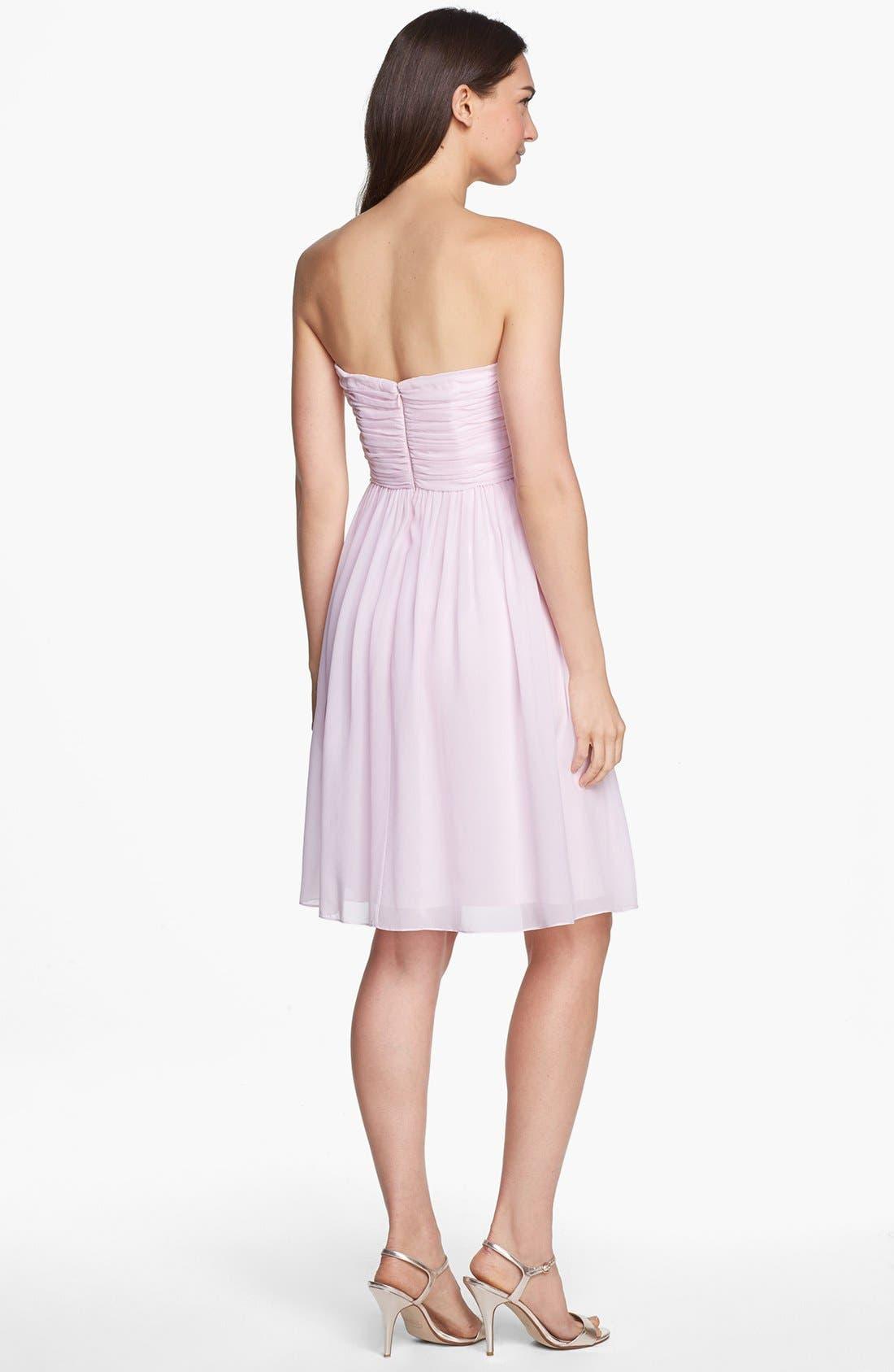 'Morgan' Strapless Silk Chiffon Dress,                             Alternate thumbnail 144, color,