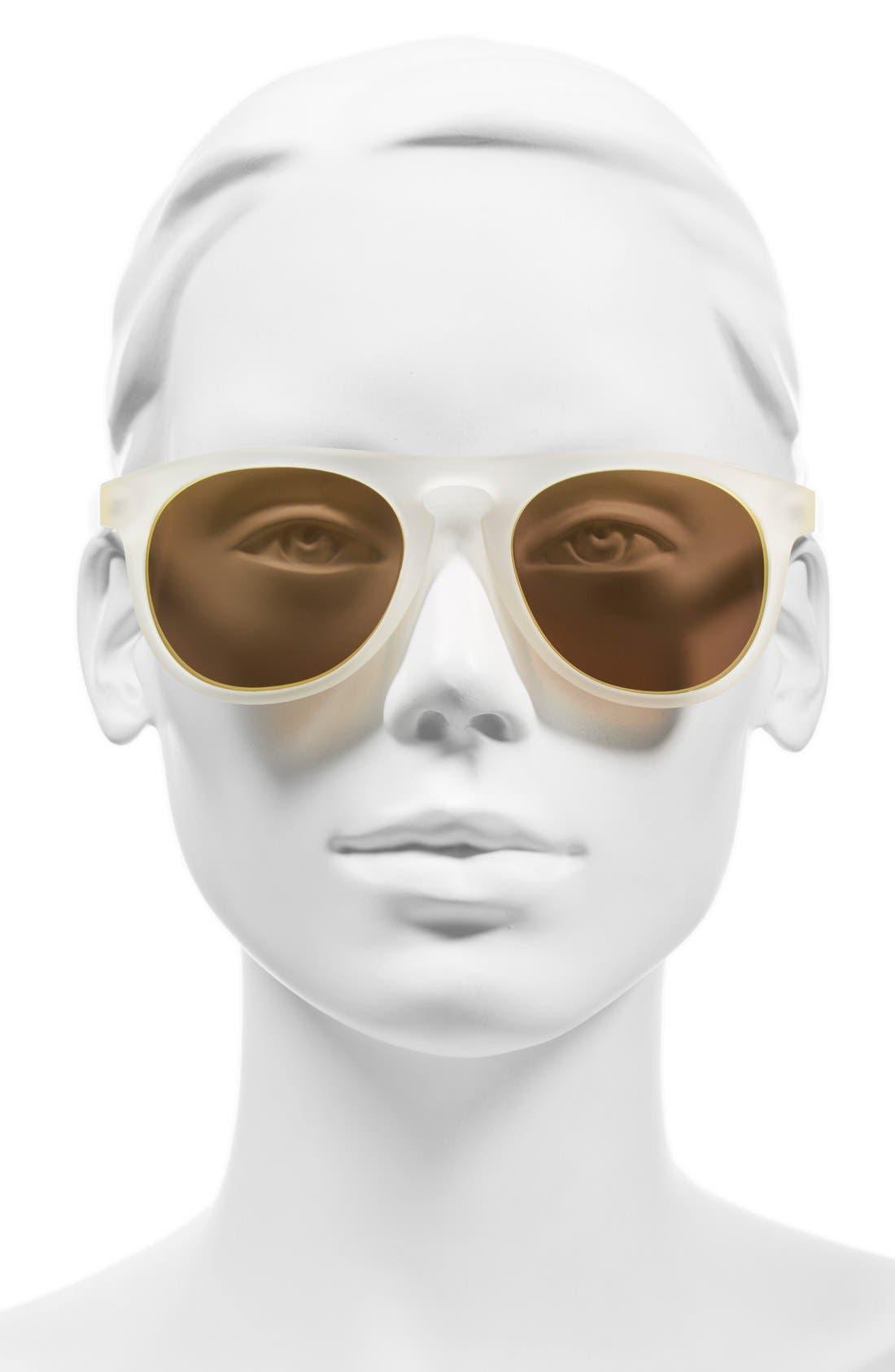 'Foxtail' 52mm Polarized Aviator Sunglasses,                             Alternate thumbnail 6, color,