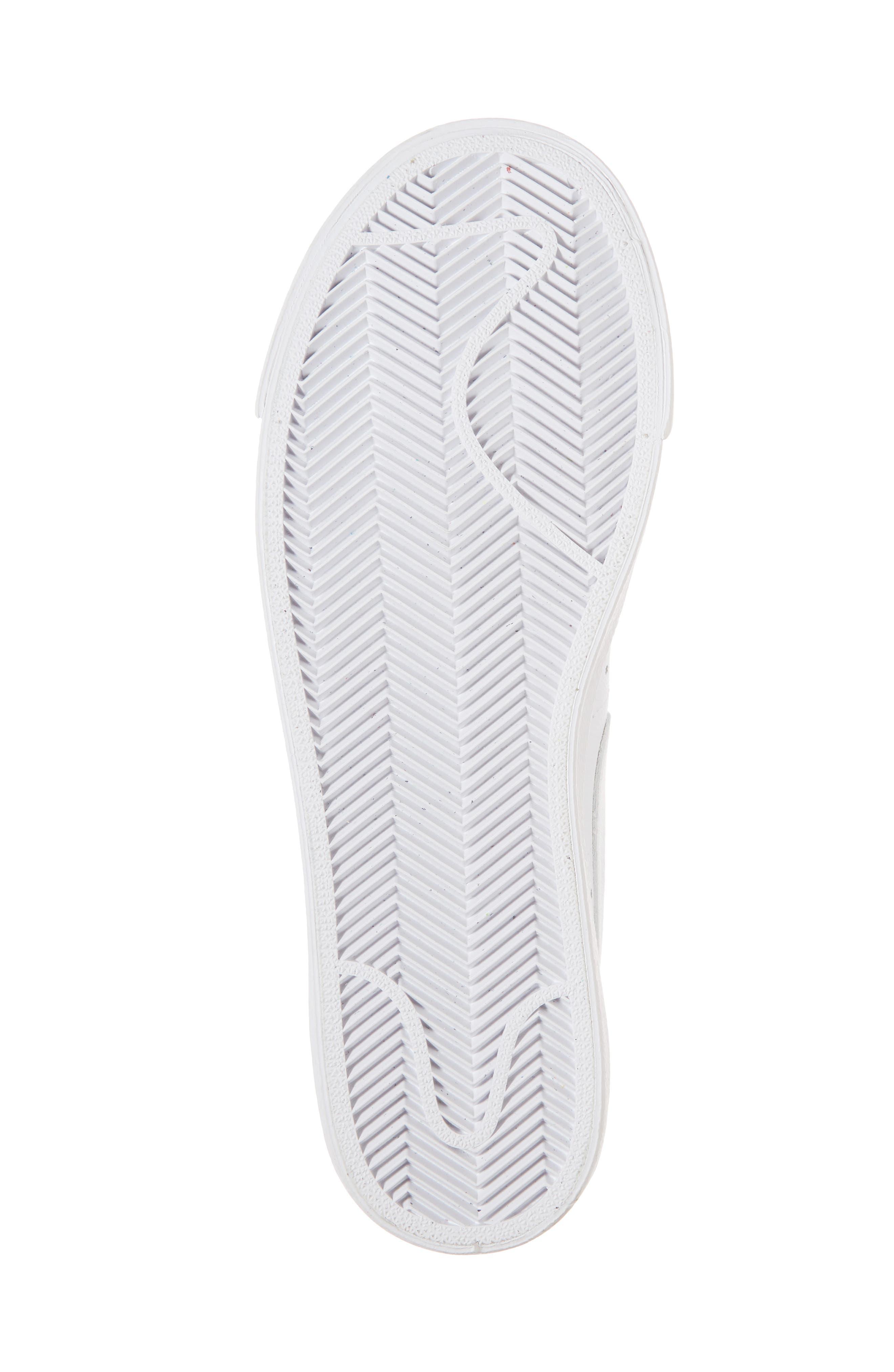 Blazer Low LE Sneaker,                             Alternate thumbnail 6, color,                             WHITE/ WHITE-WHITE