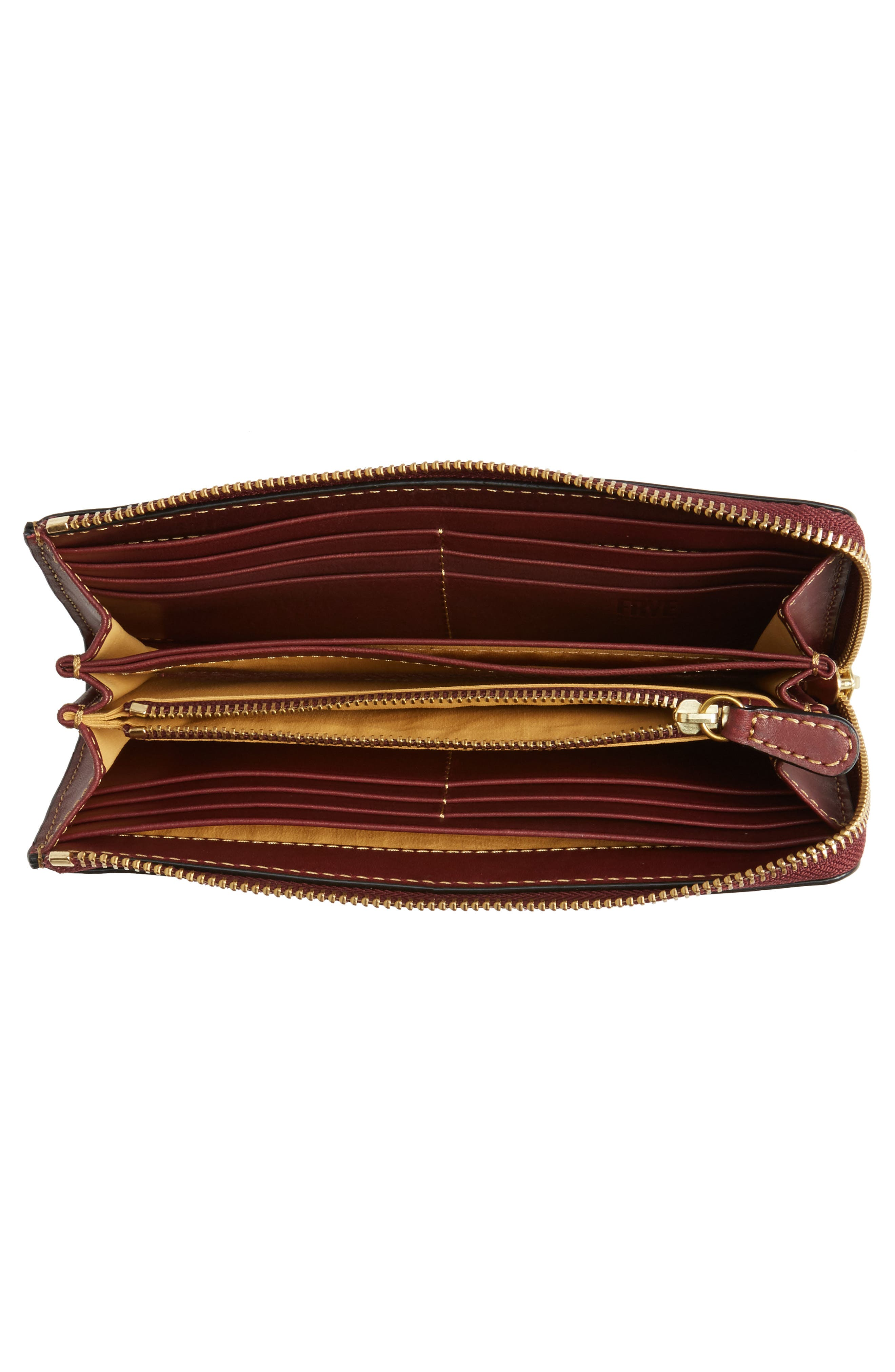 Large Ilana Harness Leather Zip Wallet,                             Alternate thumbnail 8, color,