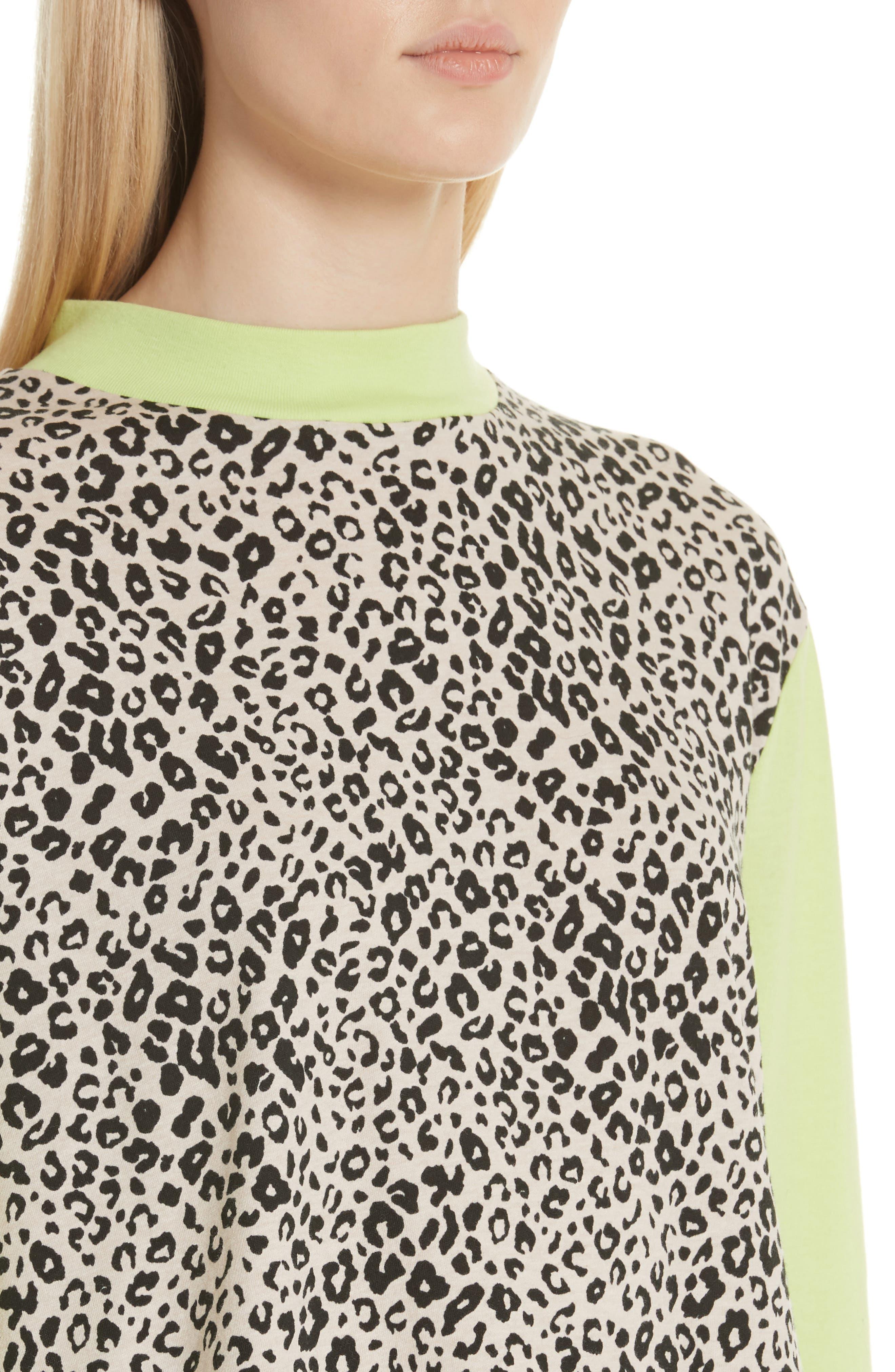 Lewis Leopard & Neon Sweater,                             Alternate thumbnail 4, color,                             SNOW LEOPARD