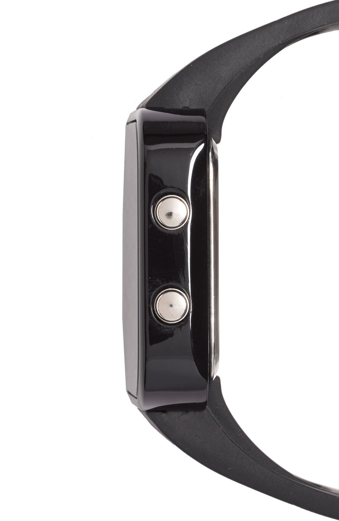 1:FACE,                             'Cancer' Square Digital Silicone Strap Watch, 38mm,                             Alternate thumbnail 6, color,                             001