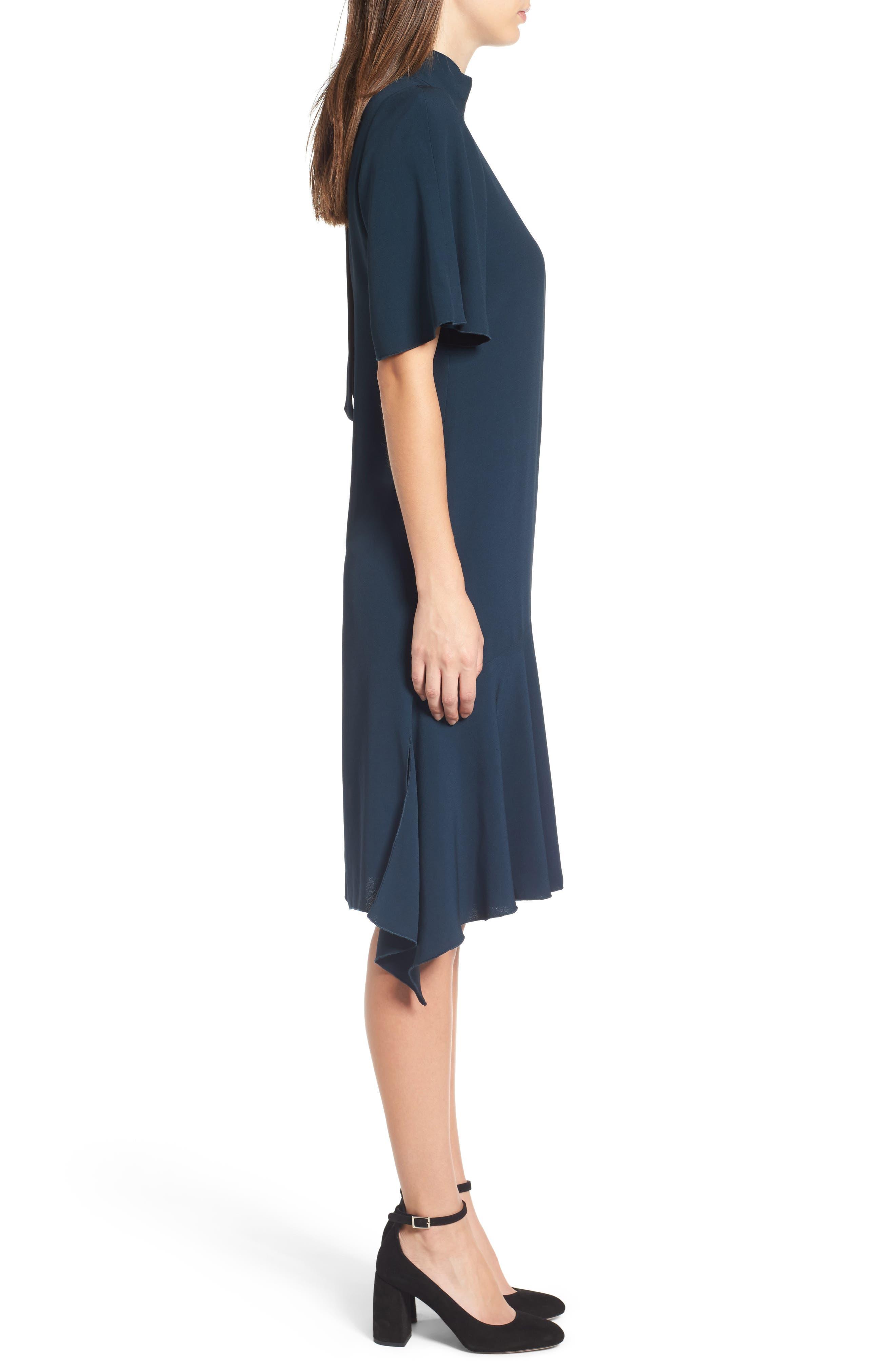 Tie Back Cady Dress,                             Alternate thumbnail 3, color,                             301