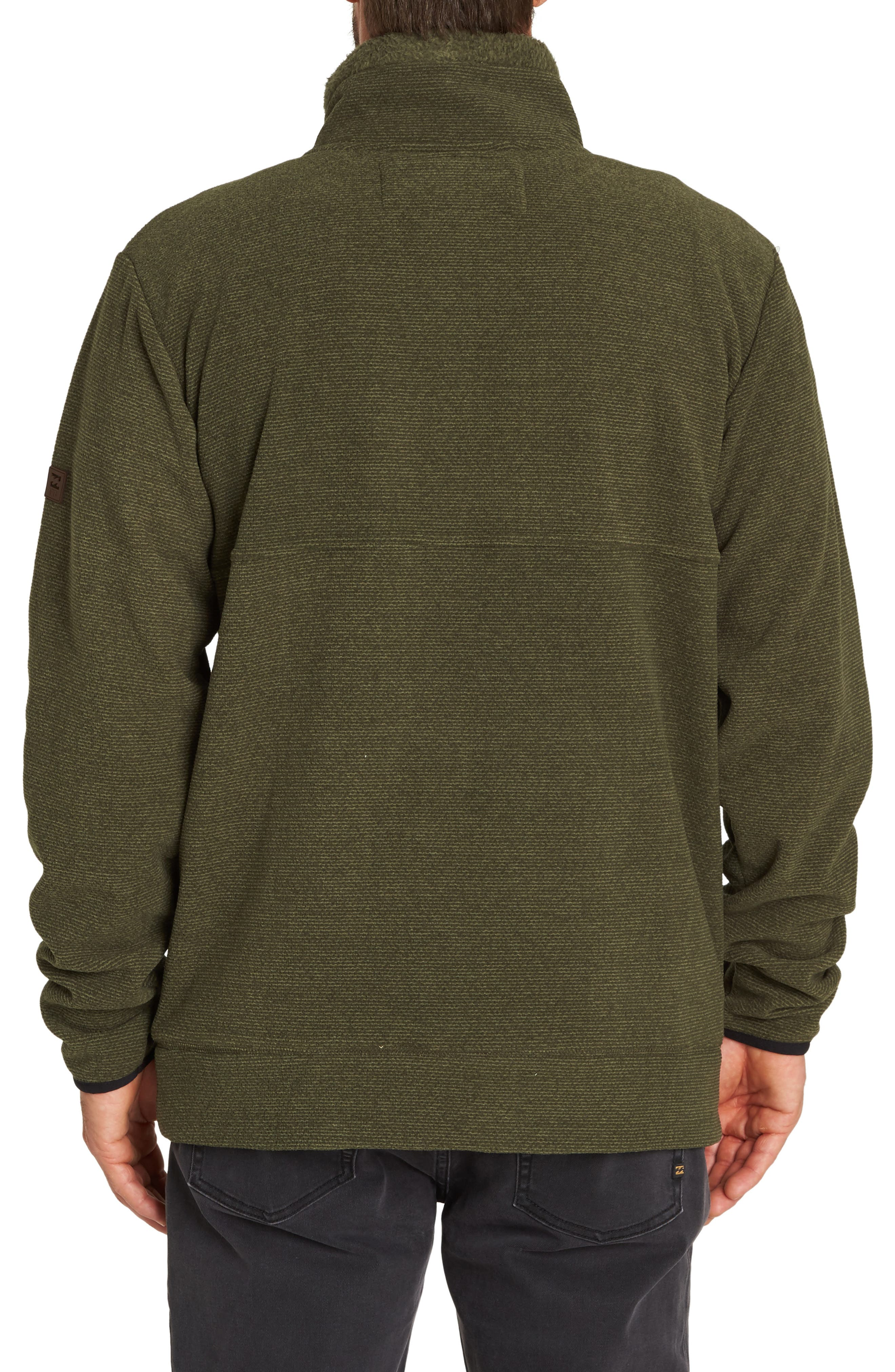 Boundary Mock Half Zip Pullover,                             Alternate thumbnail 2, color,                             MILITARY