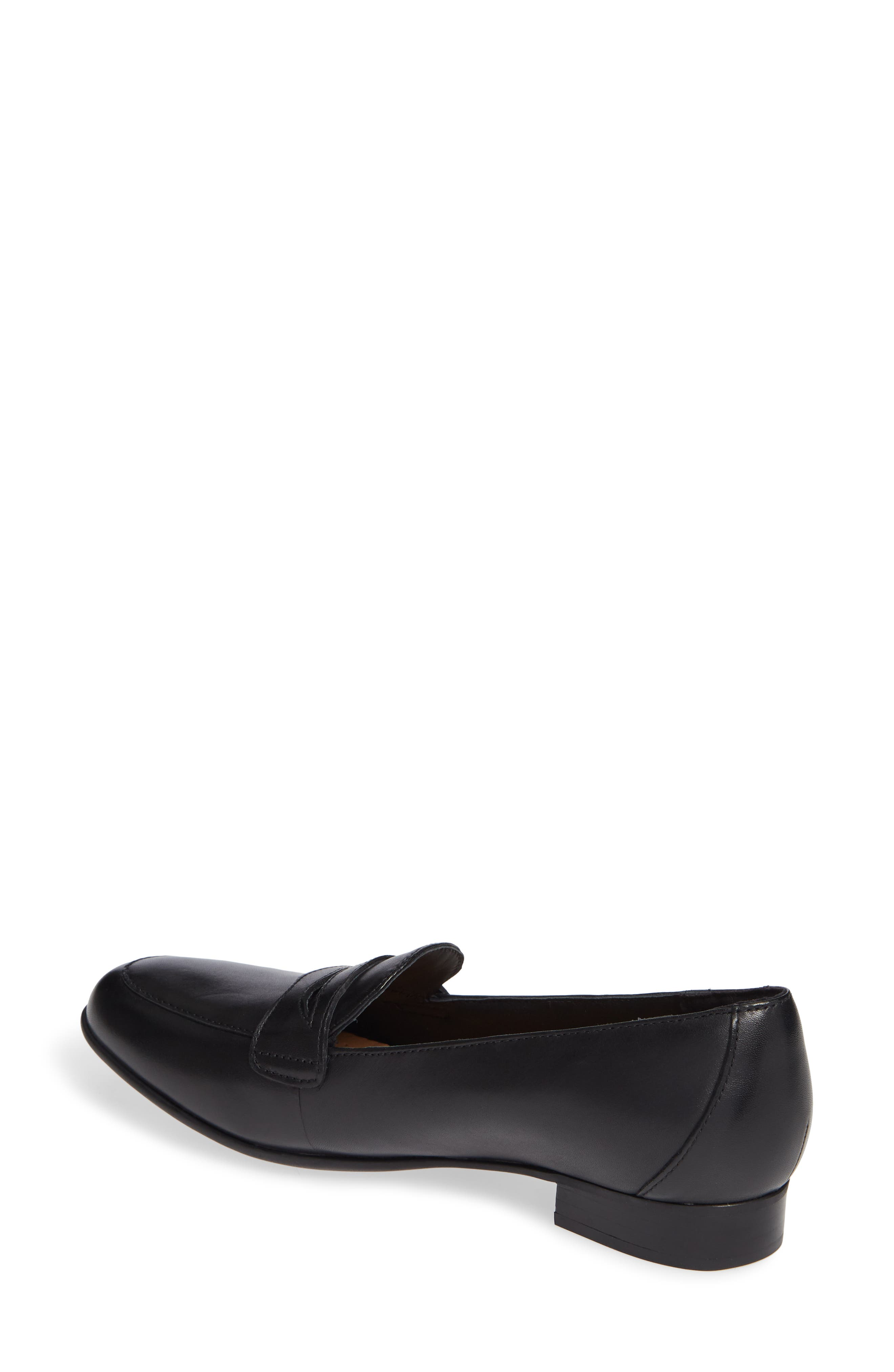 Un Blush Go Penny Loafer,                             Alternate thumbnail 2, color,                             BLACK LEATHER