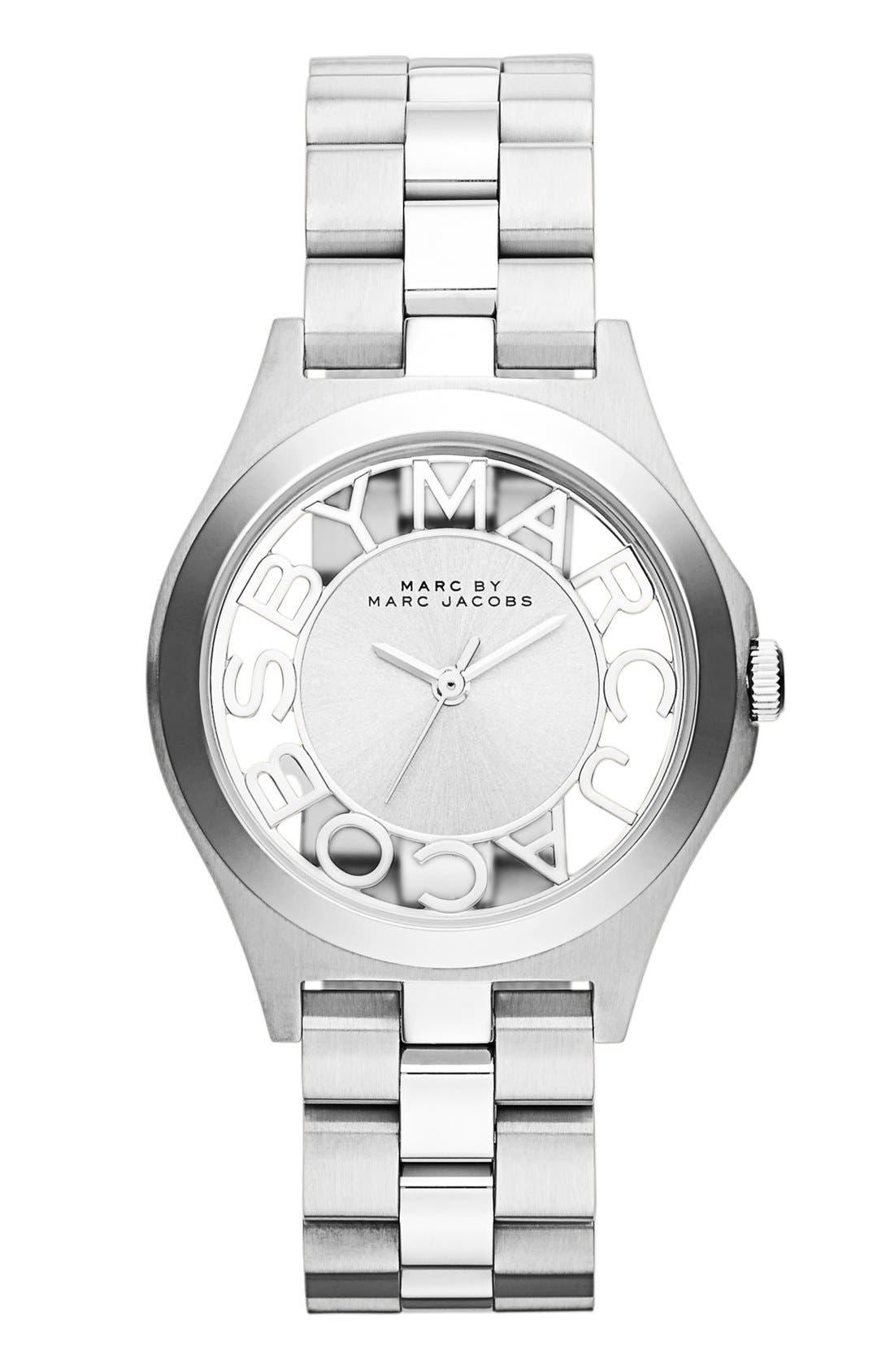 'Henry Skeleton' Bracelet Watch, 34mm,                         Main,                         color, 040