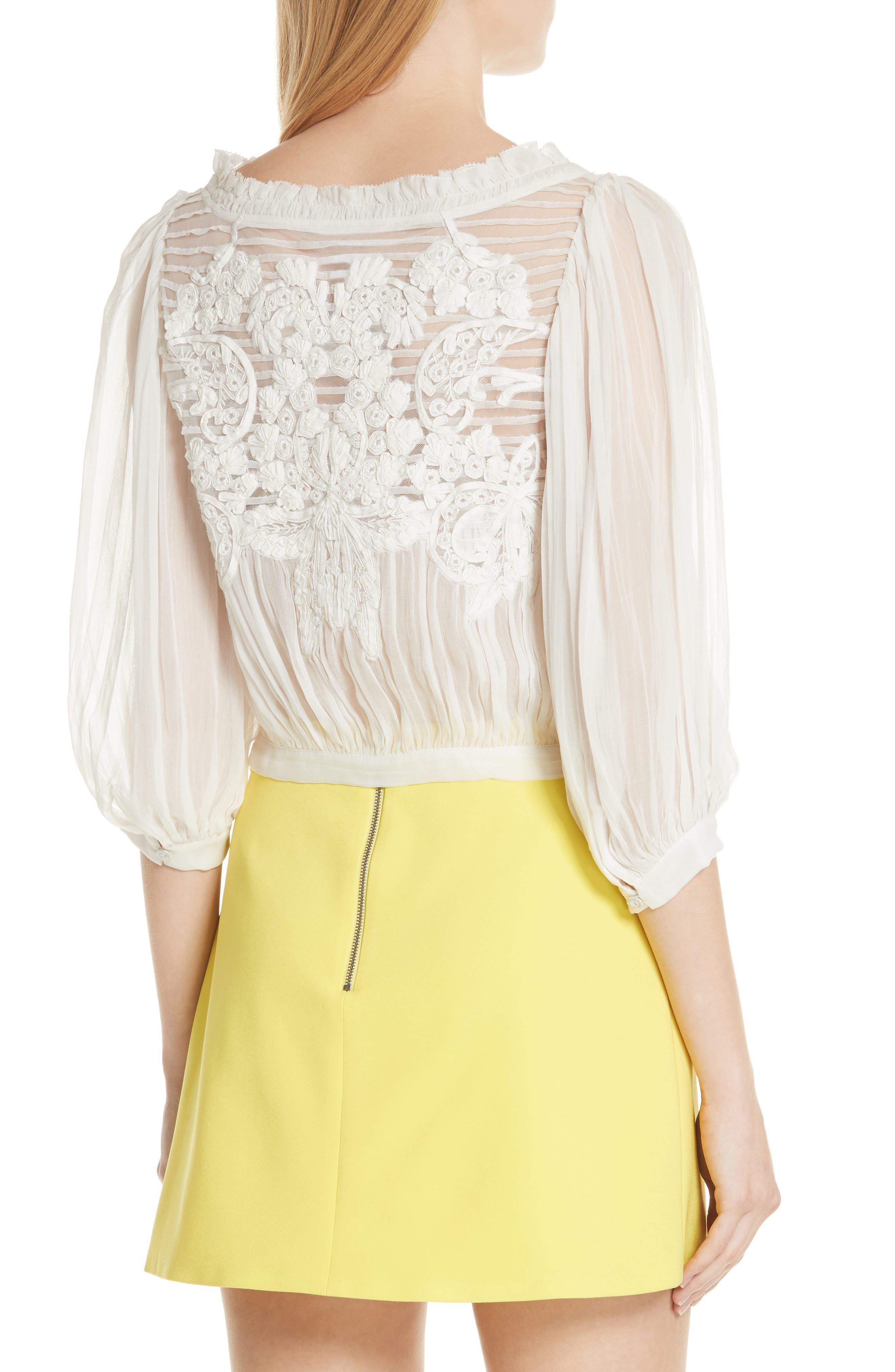 Lavone Embroidered Blouson Top,                             Alternate thumbnail 2, color,