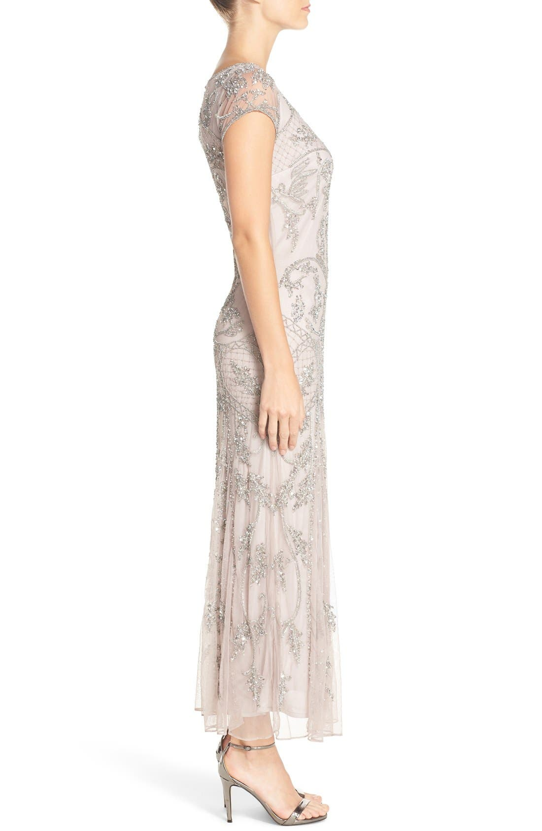 Embellished Mesh Gown,                             Alternate thumbnail 62, color,