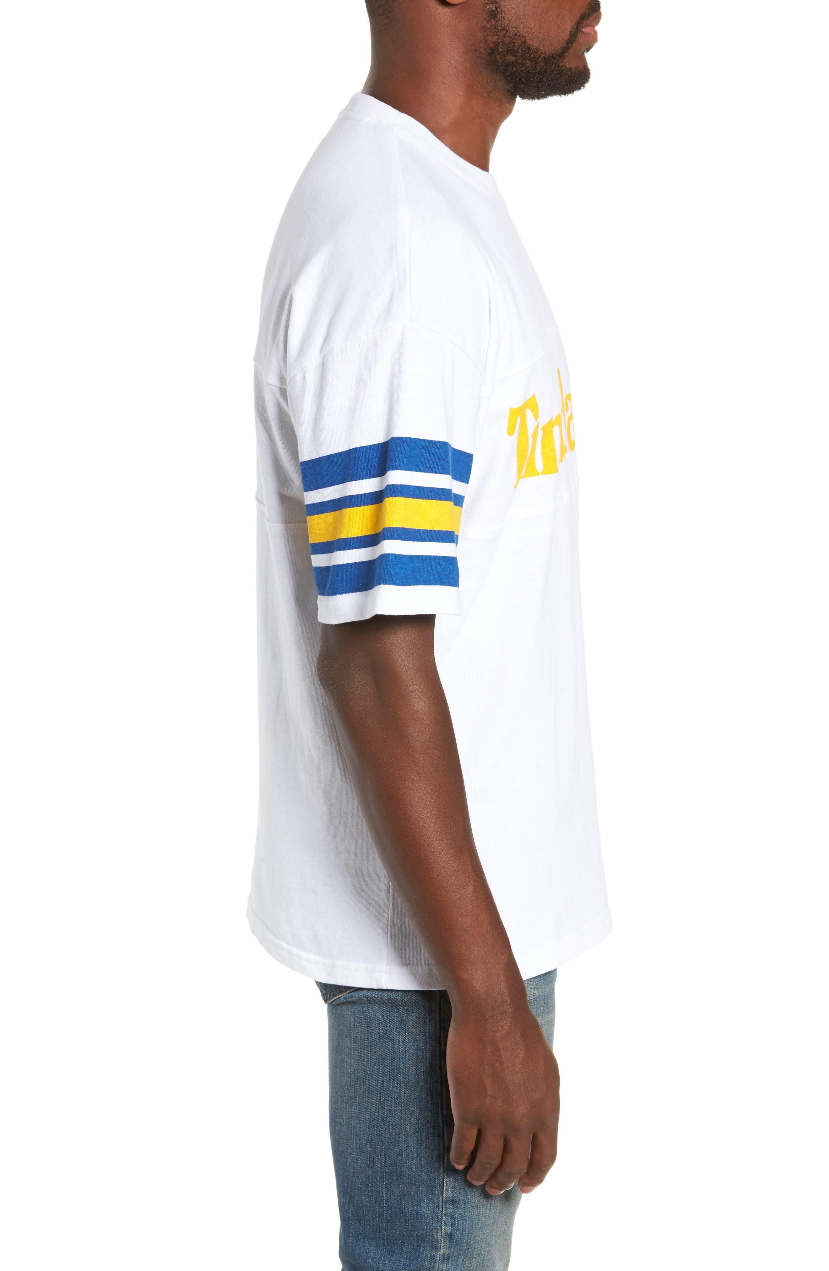 Oversize '90s Logo T-Shirt,                             Alternate thumbnail 3, color,                             WHITE