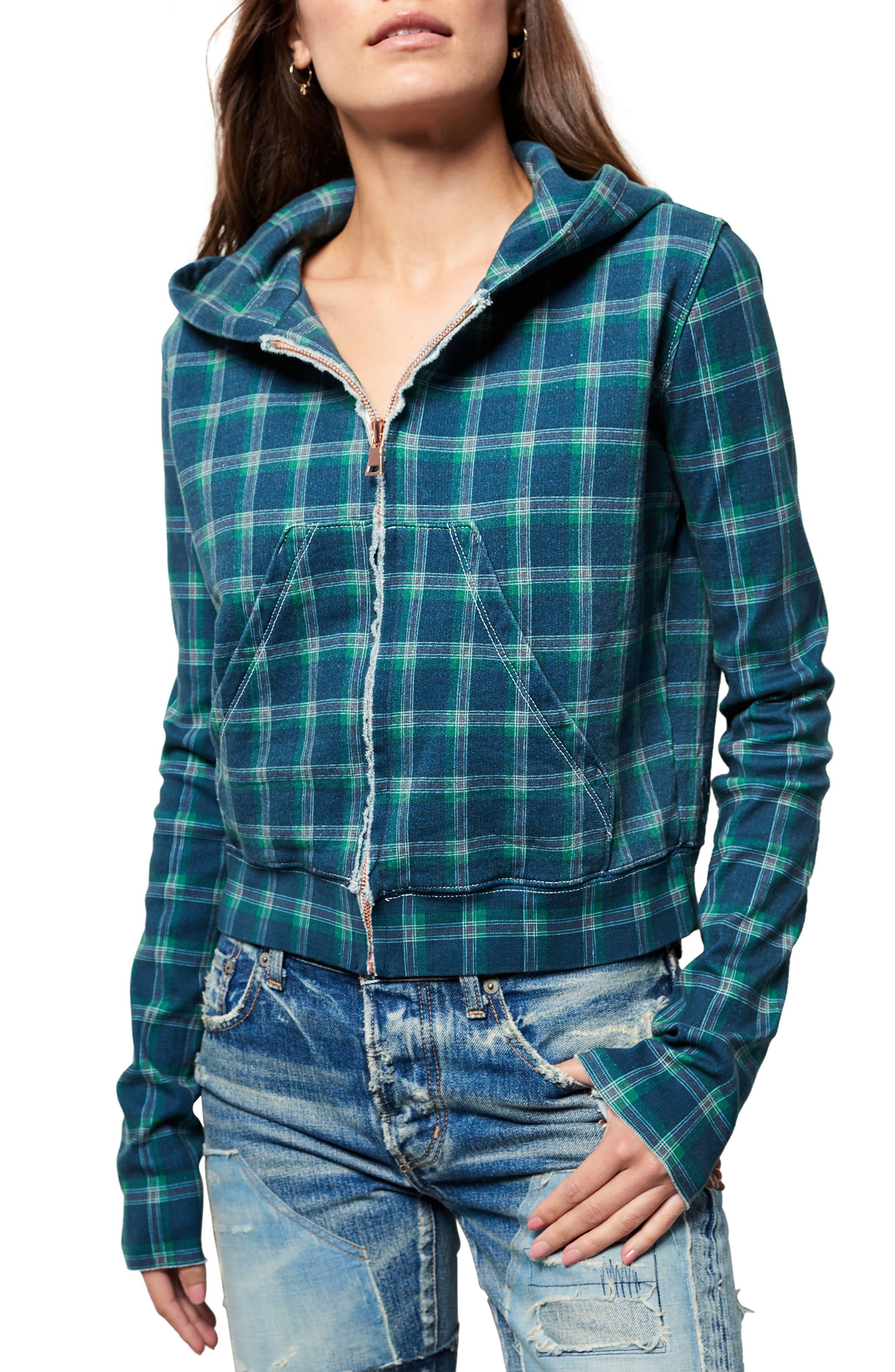 Crop Zip Hoodie,                         Main,                         color, 406