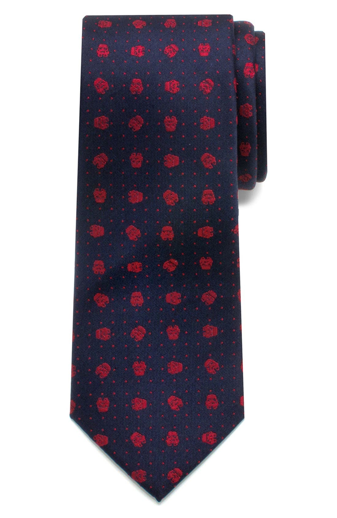 'Star Wars<sup>™</sup> - Stormtrooper Dot' Zipper Silk Tie,                             Alternate thumbnail 2, color,                             400