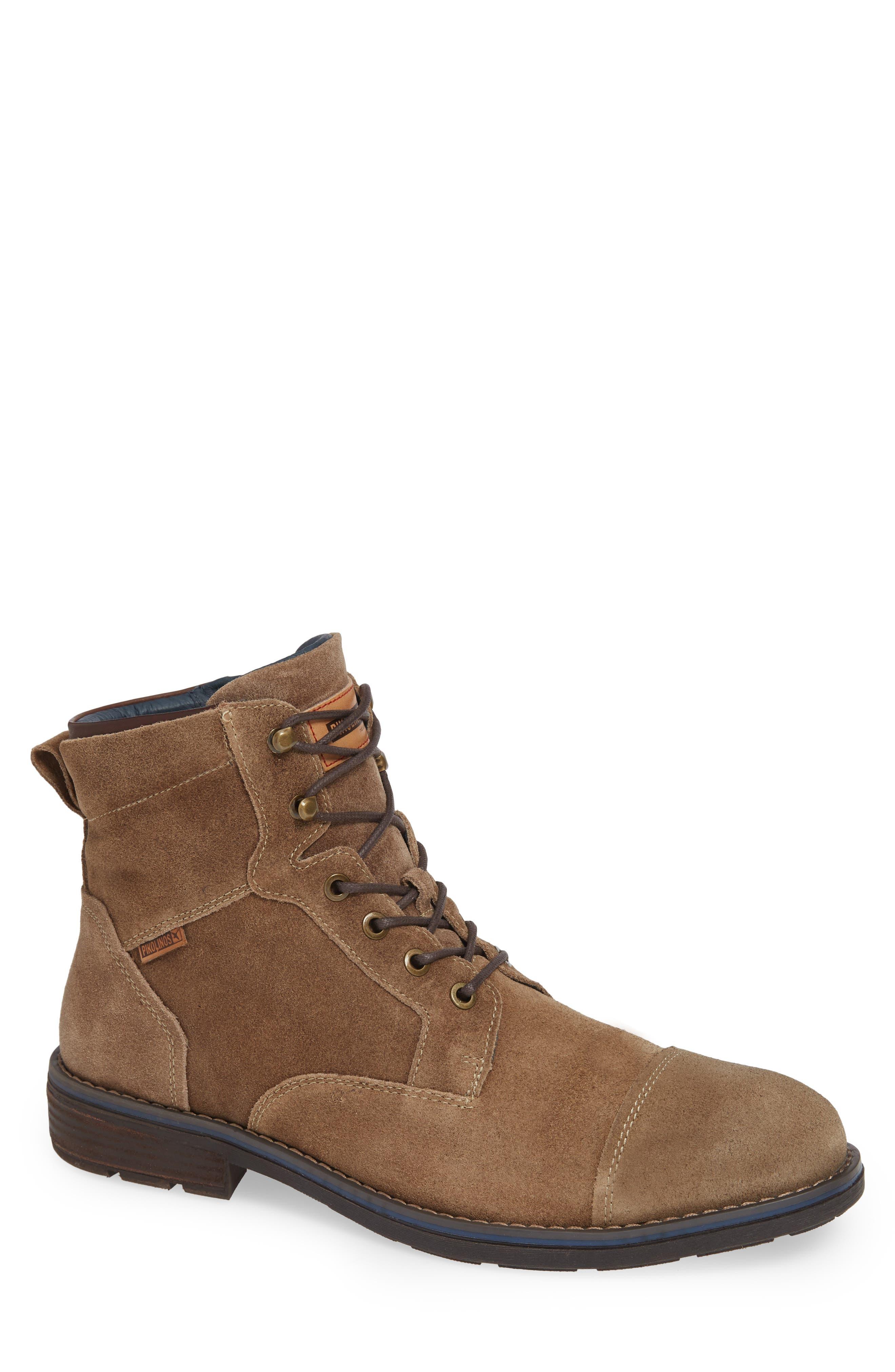 Pikolinos York Cap Toe Boot - Beige