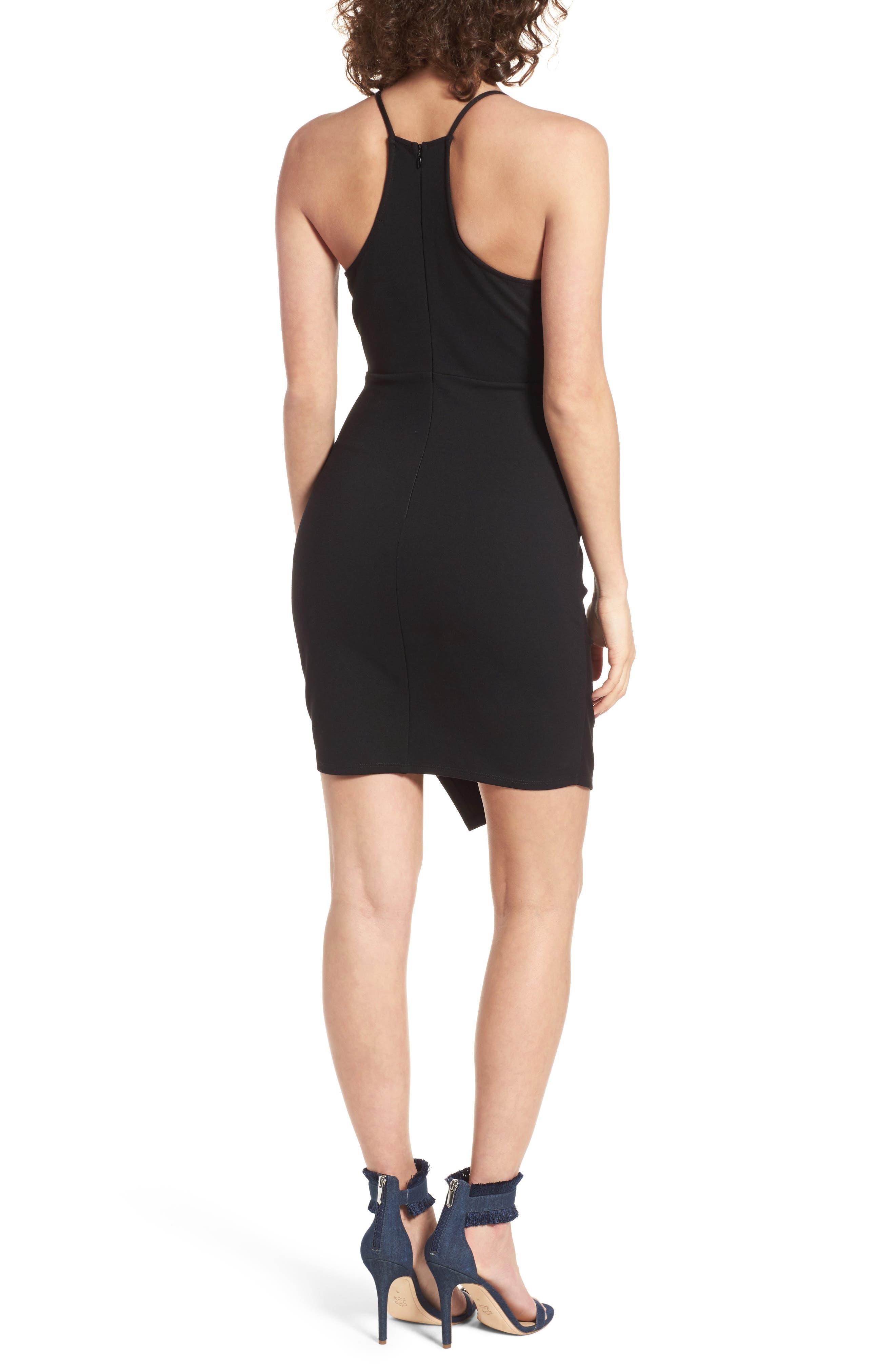 Asymmetrical Body-Con Dress,                             Alternate thumbnail 2, color,                             001