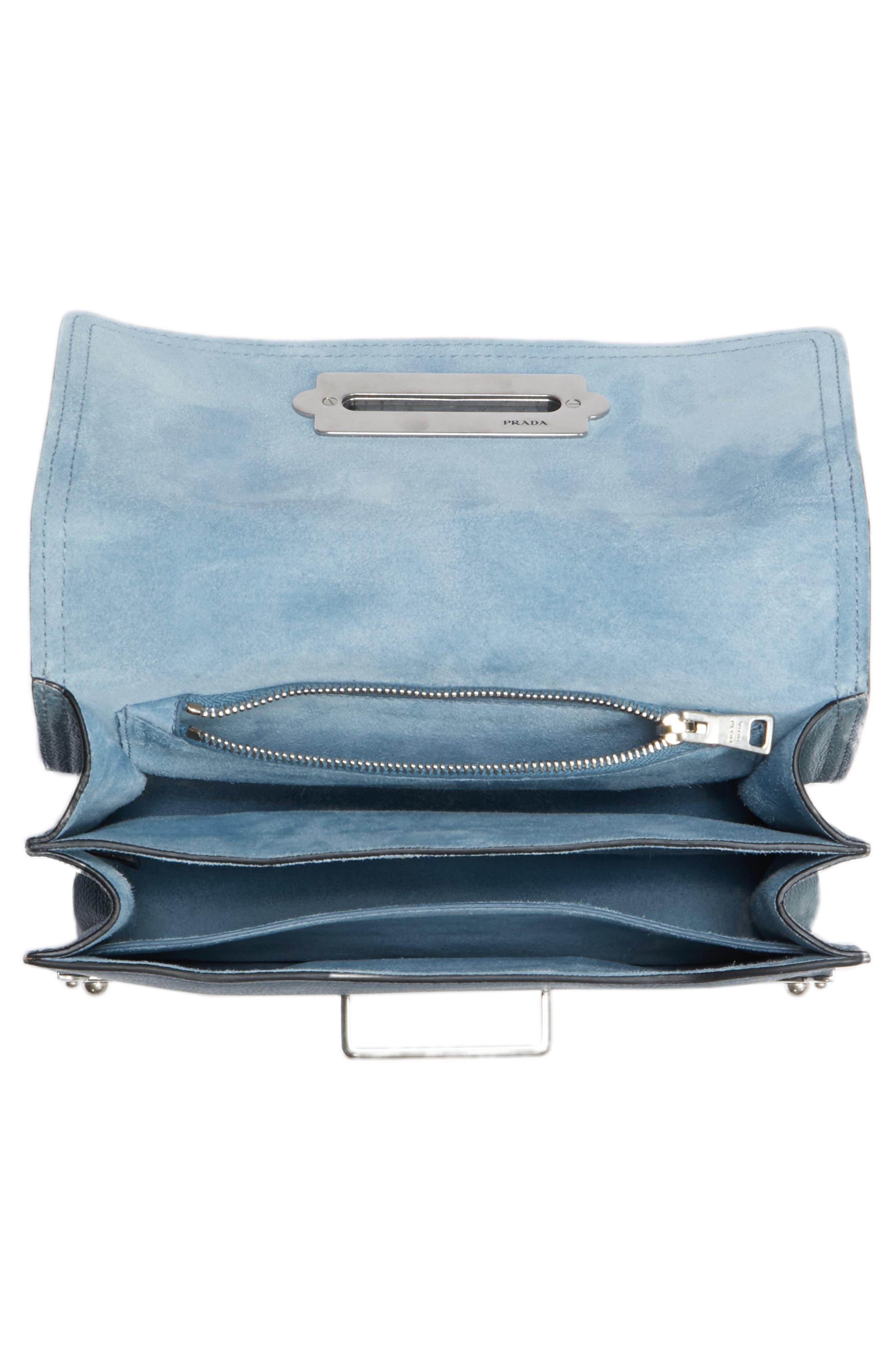Cahier Glace Calfskin Convertible Shoulder Bag,                             Alternate thumbnail 4, color,                             MARINE/ ASTRALE 1