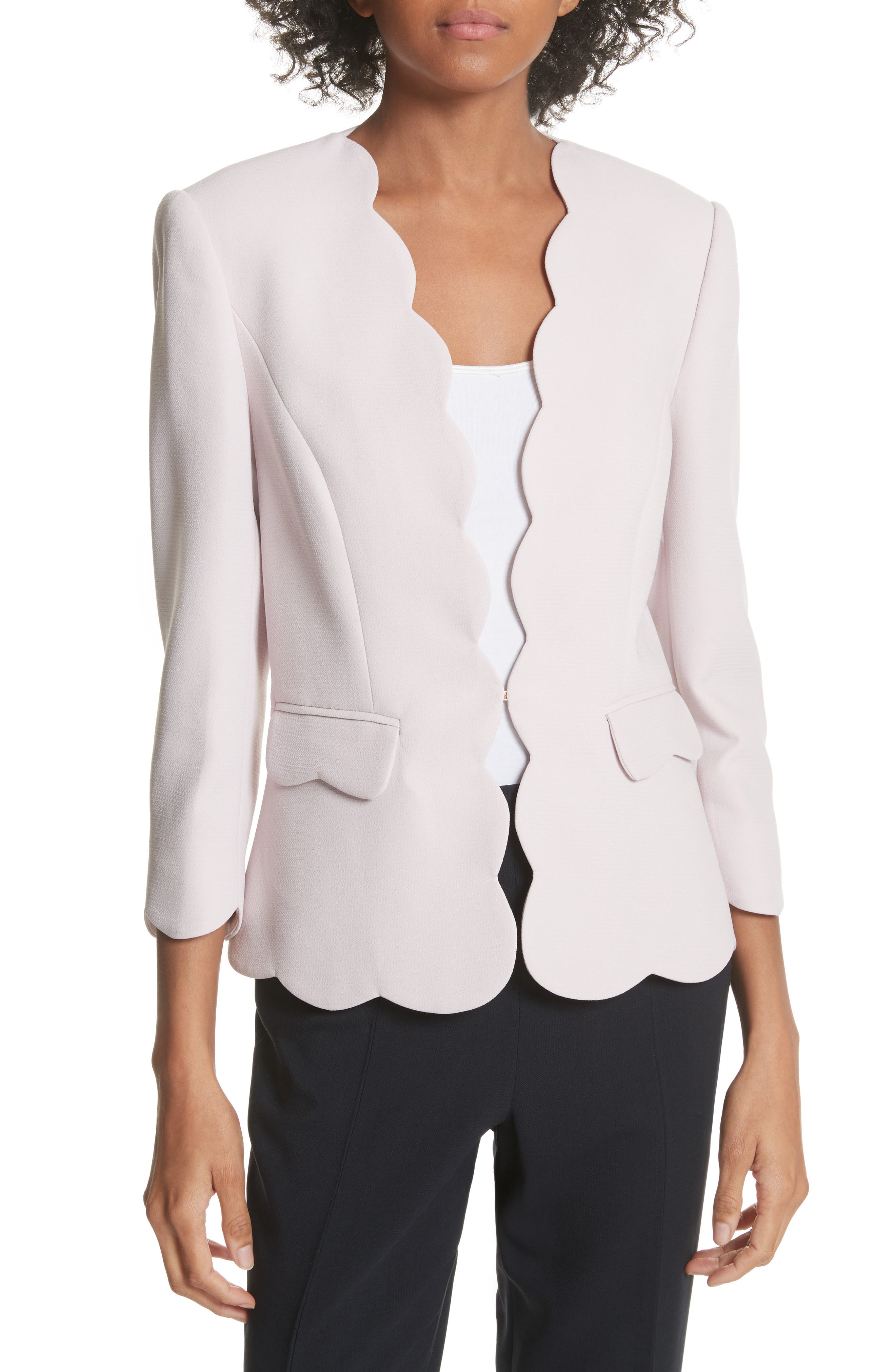 Scalloped Blazer,                             Main thumbnail 2, color,