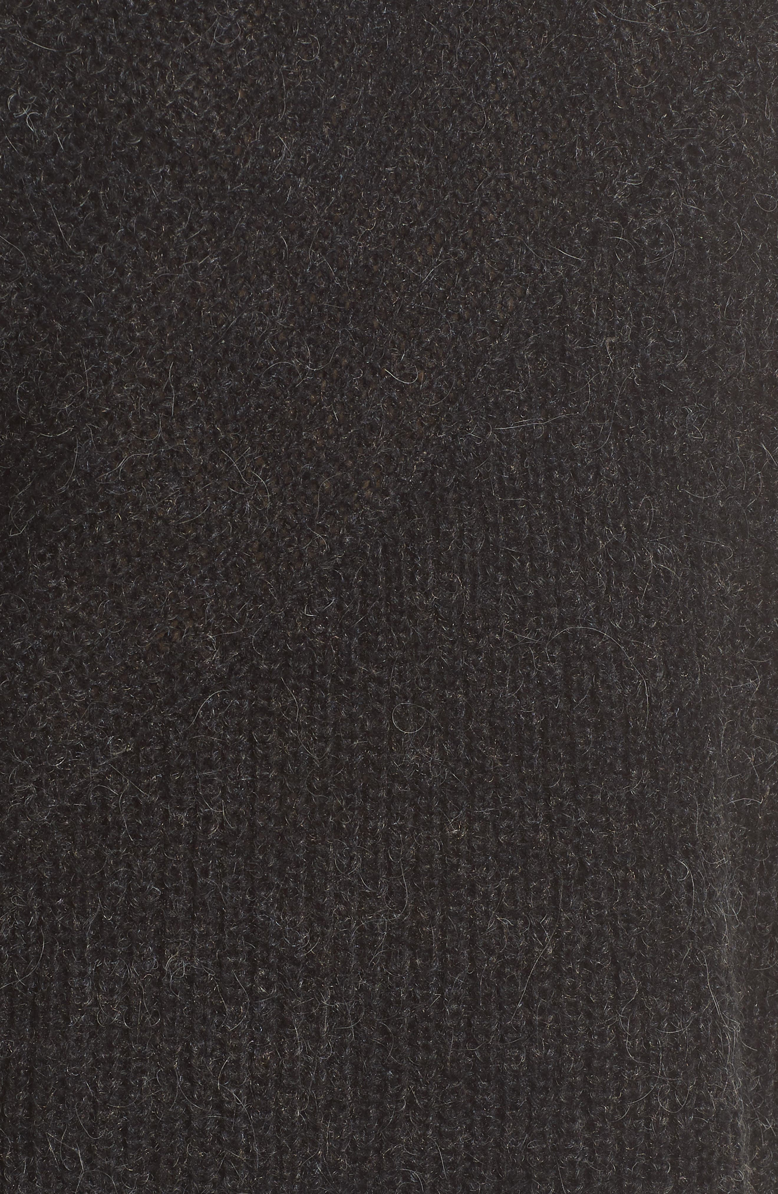Mix Stitch Funnel Neck Wool Blend Sweater,                             Alternate thumbnail 5, color,                             001