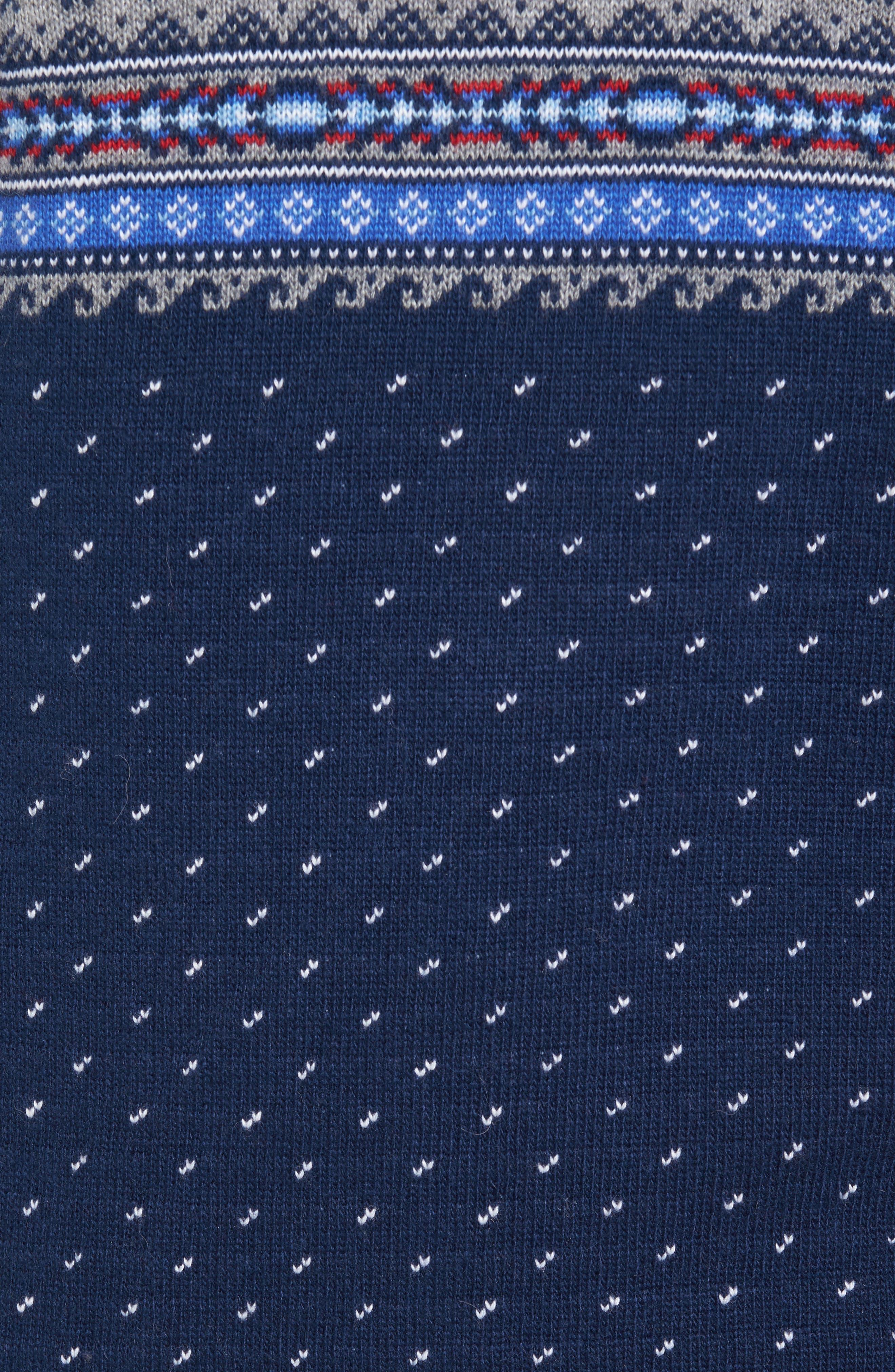 Marlin Fair Isle Quarter Zip Sweater,                             Alternate thumbnail 5, color,                             400