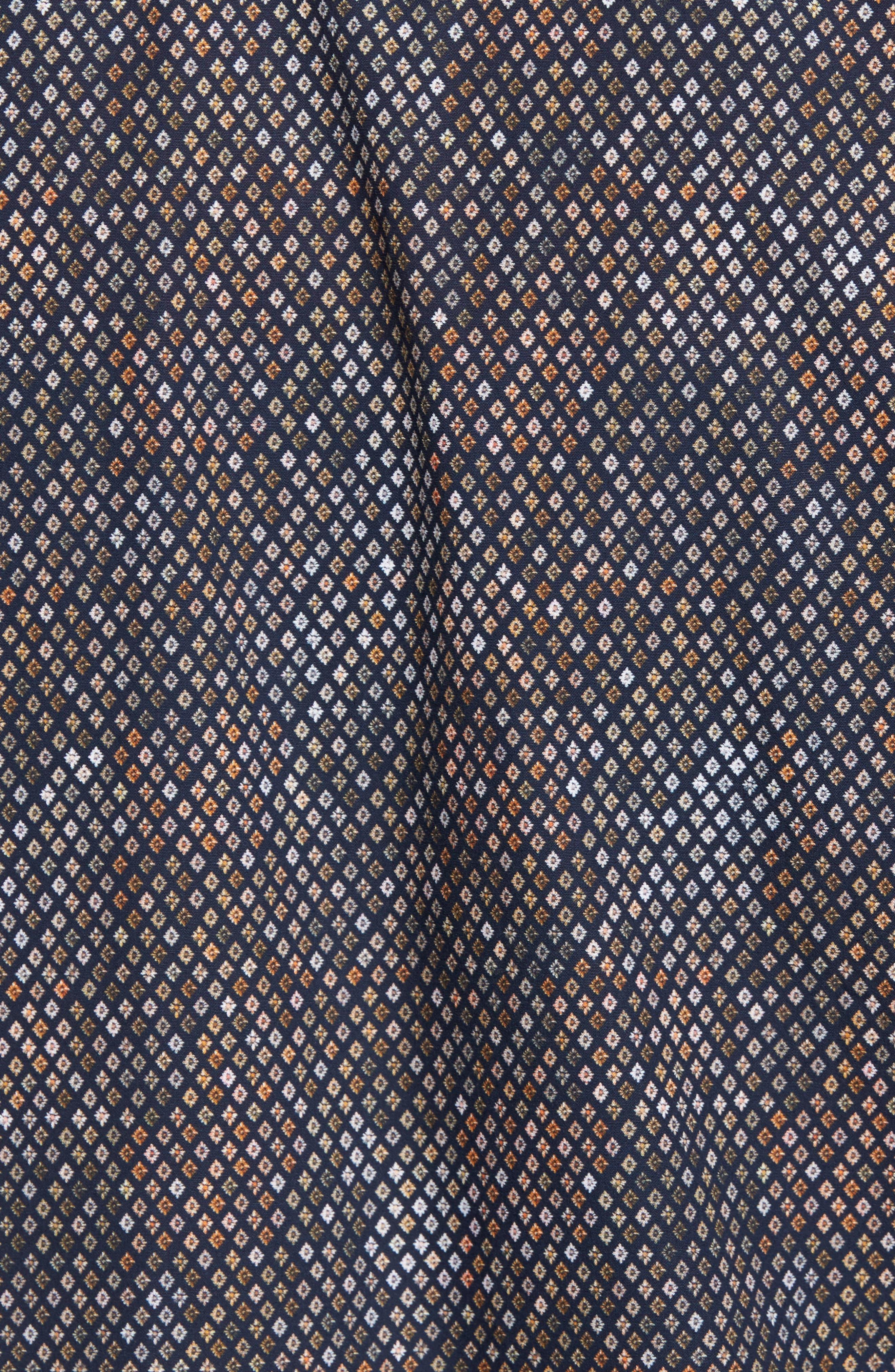 Classic Fit Floral Diamond Sport Shirt,                             Alternate thumbnail 5, color,