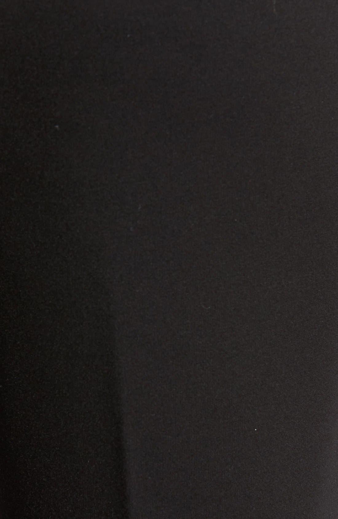 Compression Flare Leg Ponte Pants,                             Alternate thumbnail 5, color,                             BLACK