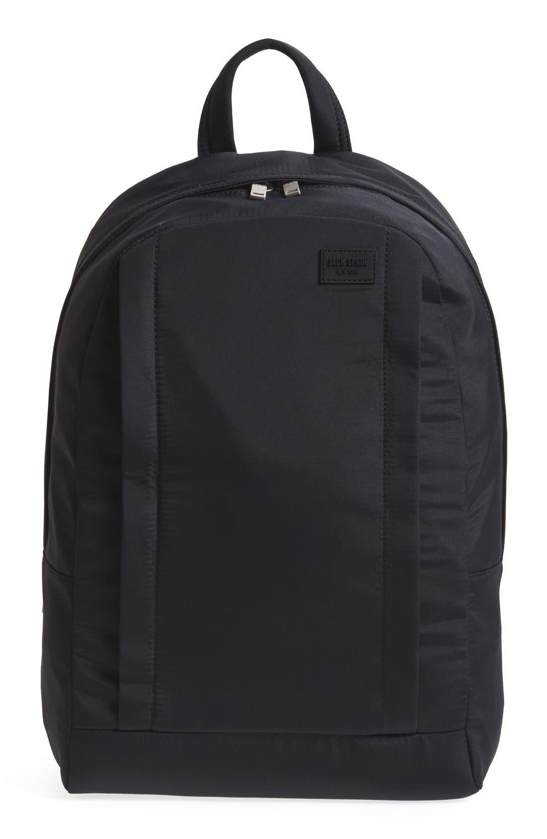 JACK SPADE 'Tech' Nylon Backpack, Main, color, 001