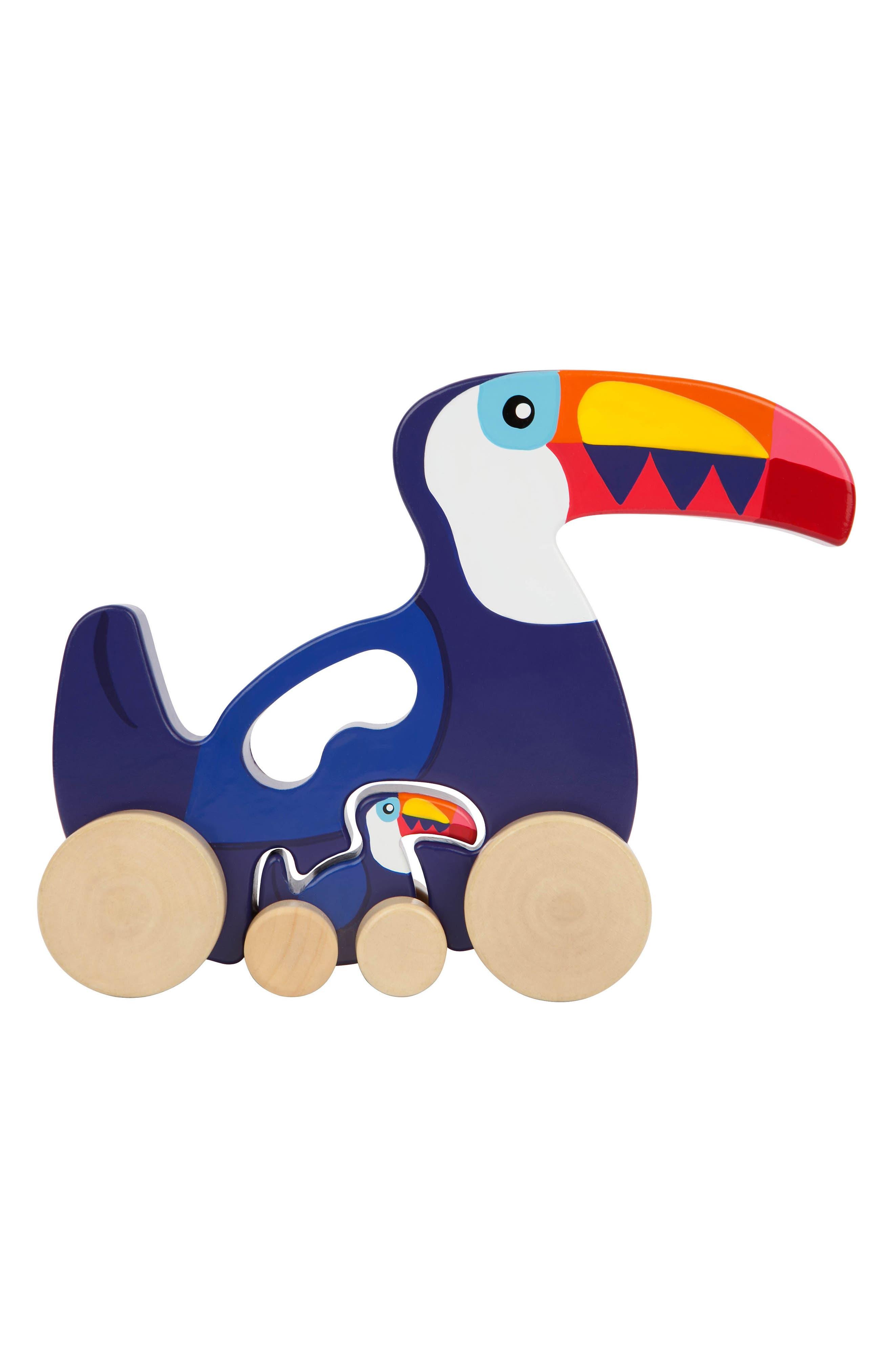 Set of 2 Medium Wheeled Nesting Birds Wooden Toys,                         Main,                         color, 400