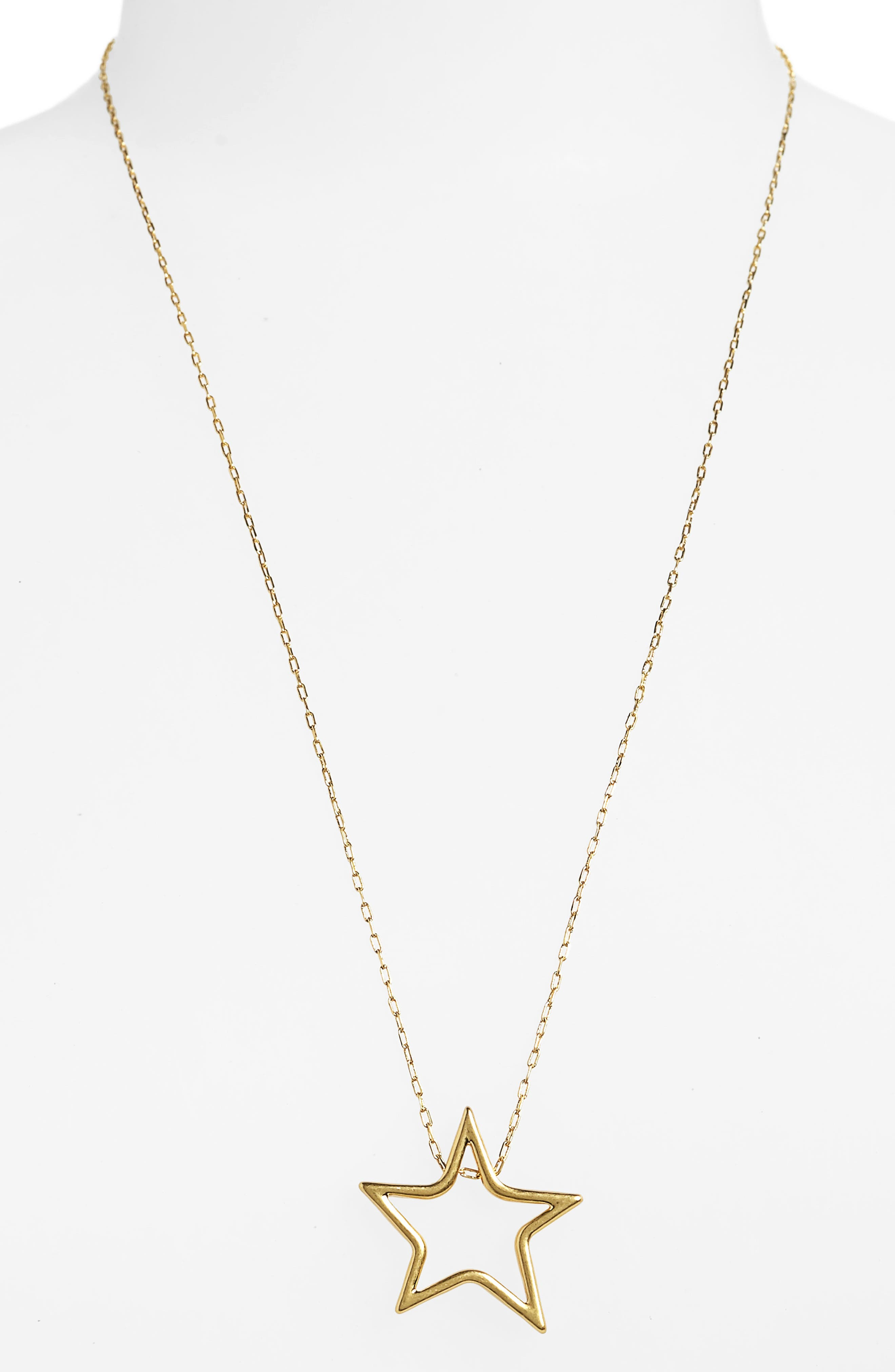 MADEWELL Night Star Necklace, Main, color, VINTAGE GOLD