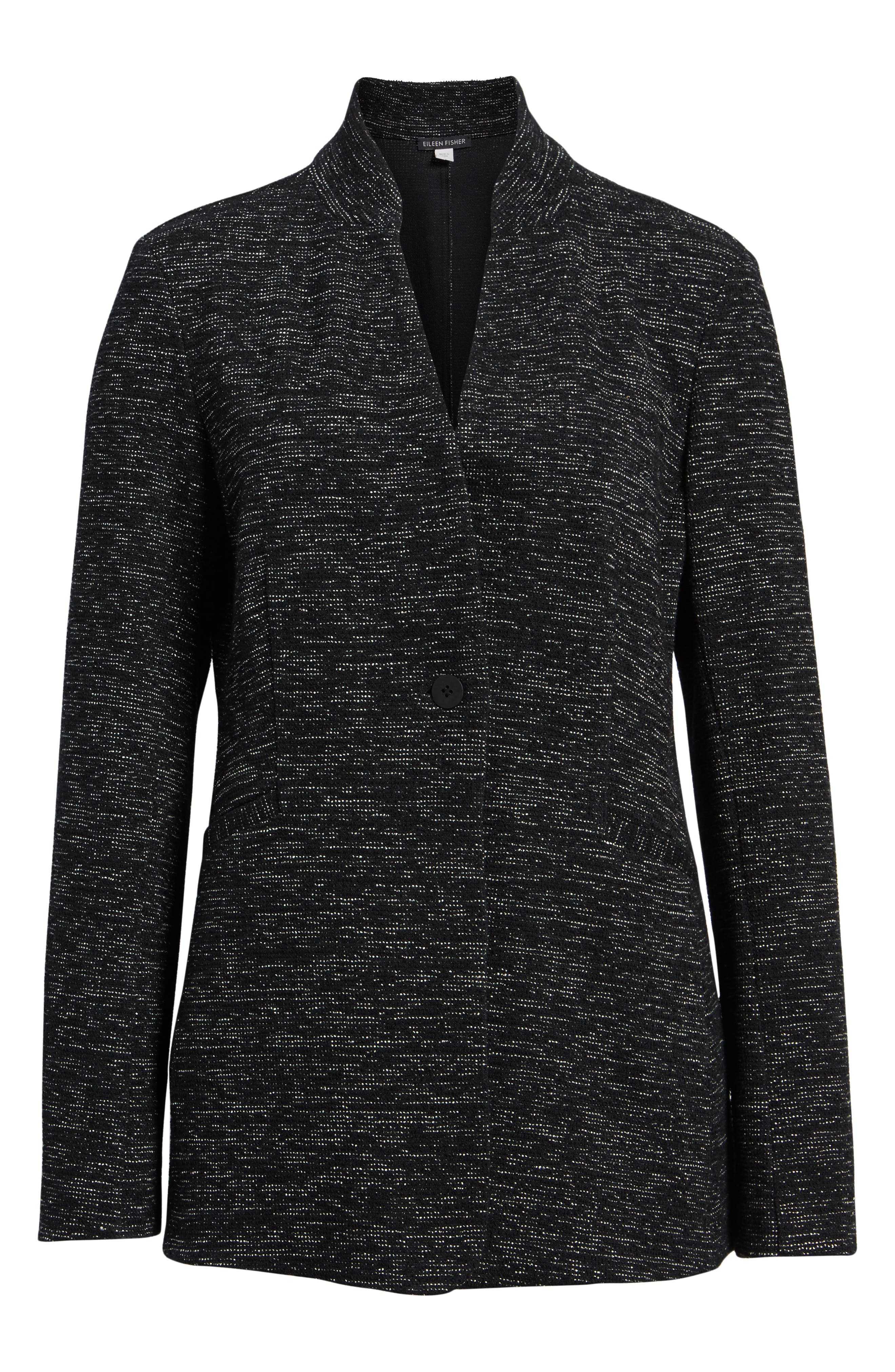 Organic Cotton Blend Tweed Jacket,                             Alternate thumbnail 5, color,