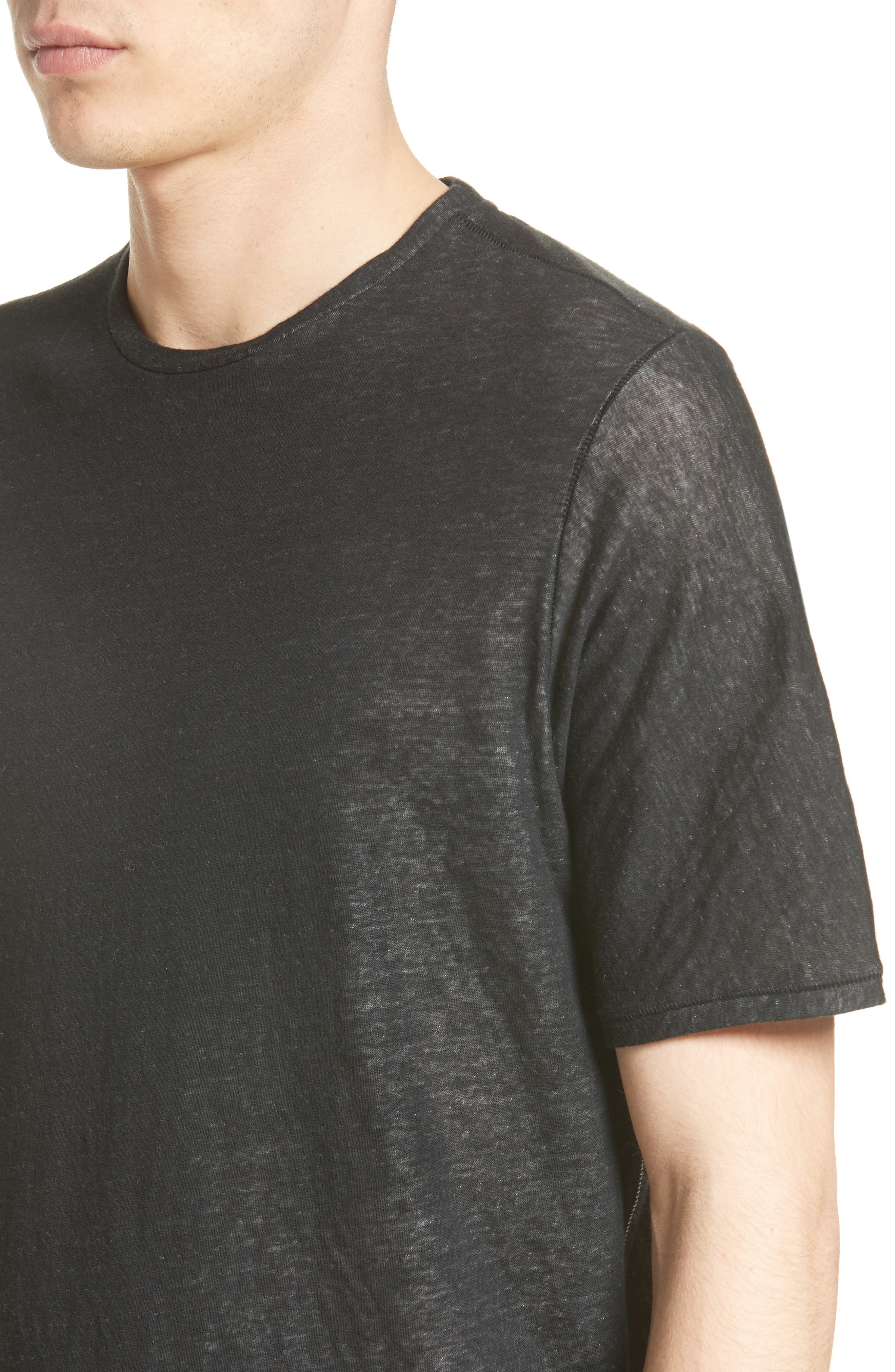 Rigby Double Layer T-Shirt,                             Alternate thumbnail 4, color,                             001